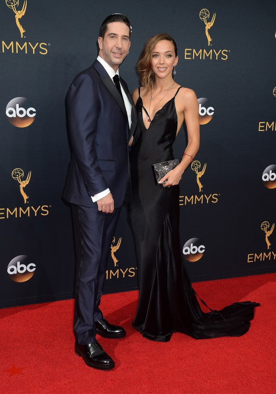 David Schwimmer and Zoe Buckman at the Emmys