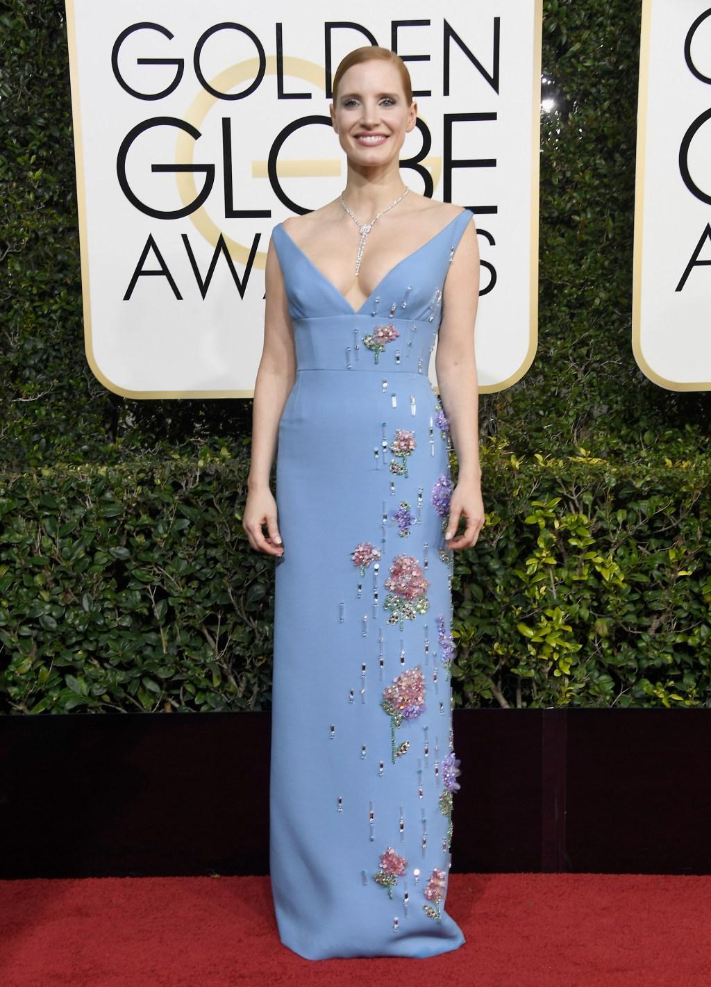 Jessica Chastain 2017 Golden Globes