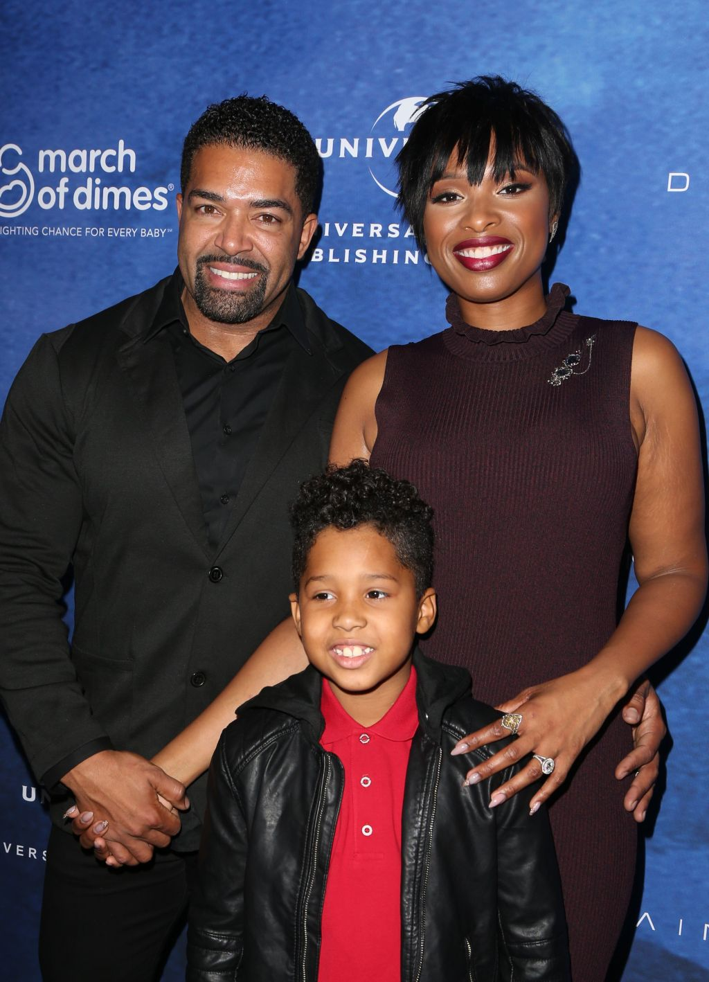 David Otunga, Jennifer Hudson, David Daniel Otunga Jr