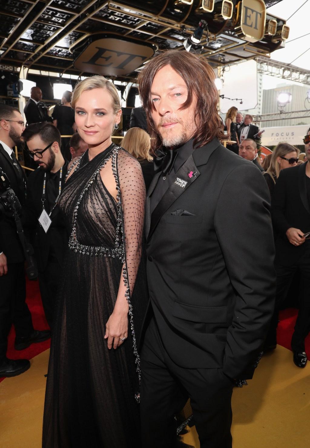 Diane Kruger Norman Reedus Golden Globes