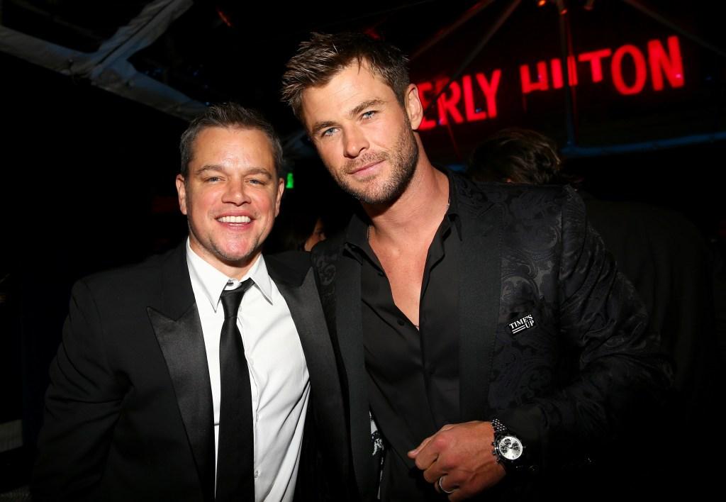 Matt Damon, Chris Hemsworth, Golden Globes