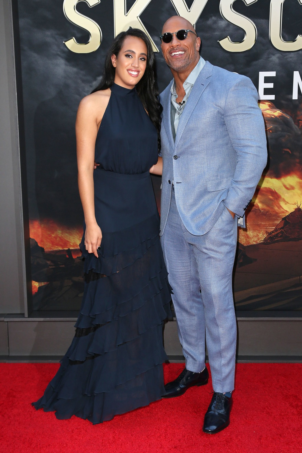 Simone Johnson and Dwayne Johnson