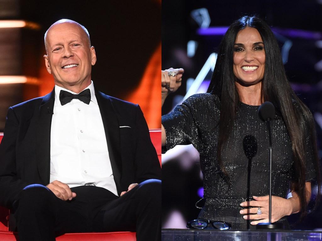 Bruce Willis, Demi More, roast split