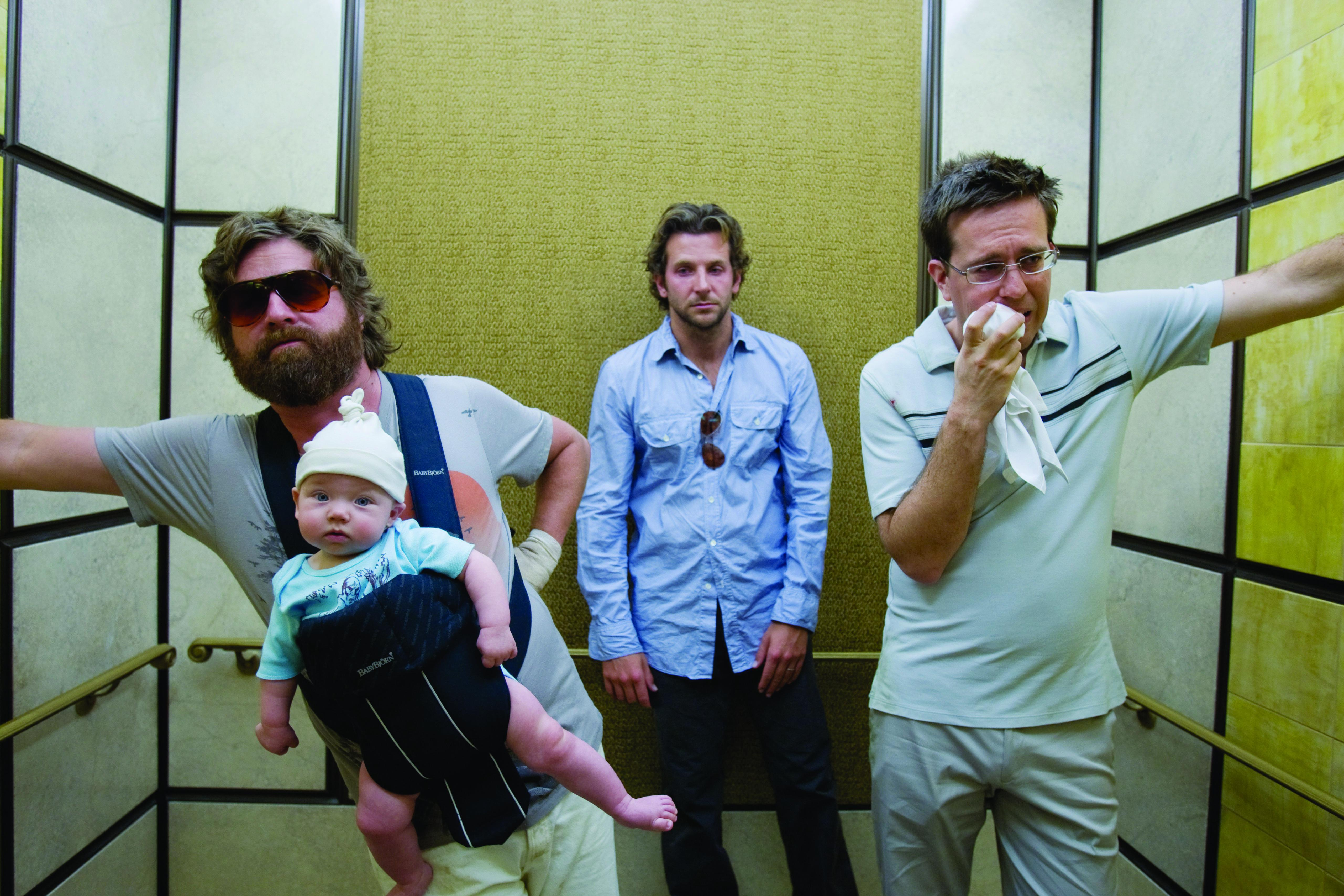 Zach Galifianakis, Bradley Cooper and Ed Helms, The Hangover