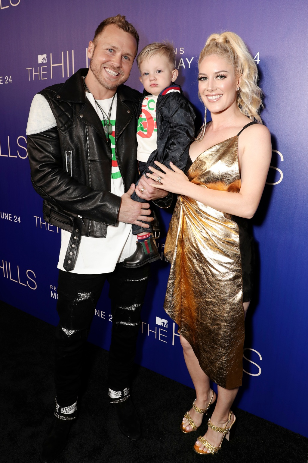 Spencer Pratt, son Gunner and Heidi Montag
