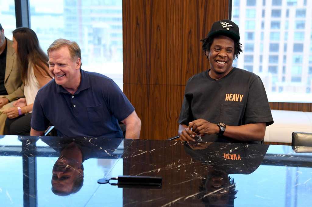 Roger Goodell and Jay Z