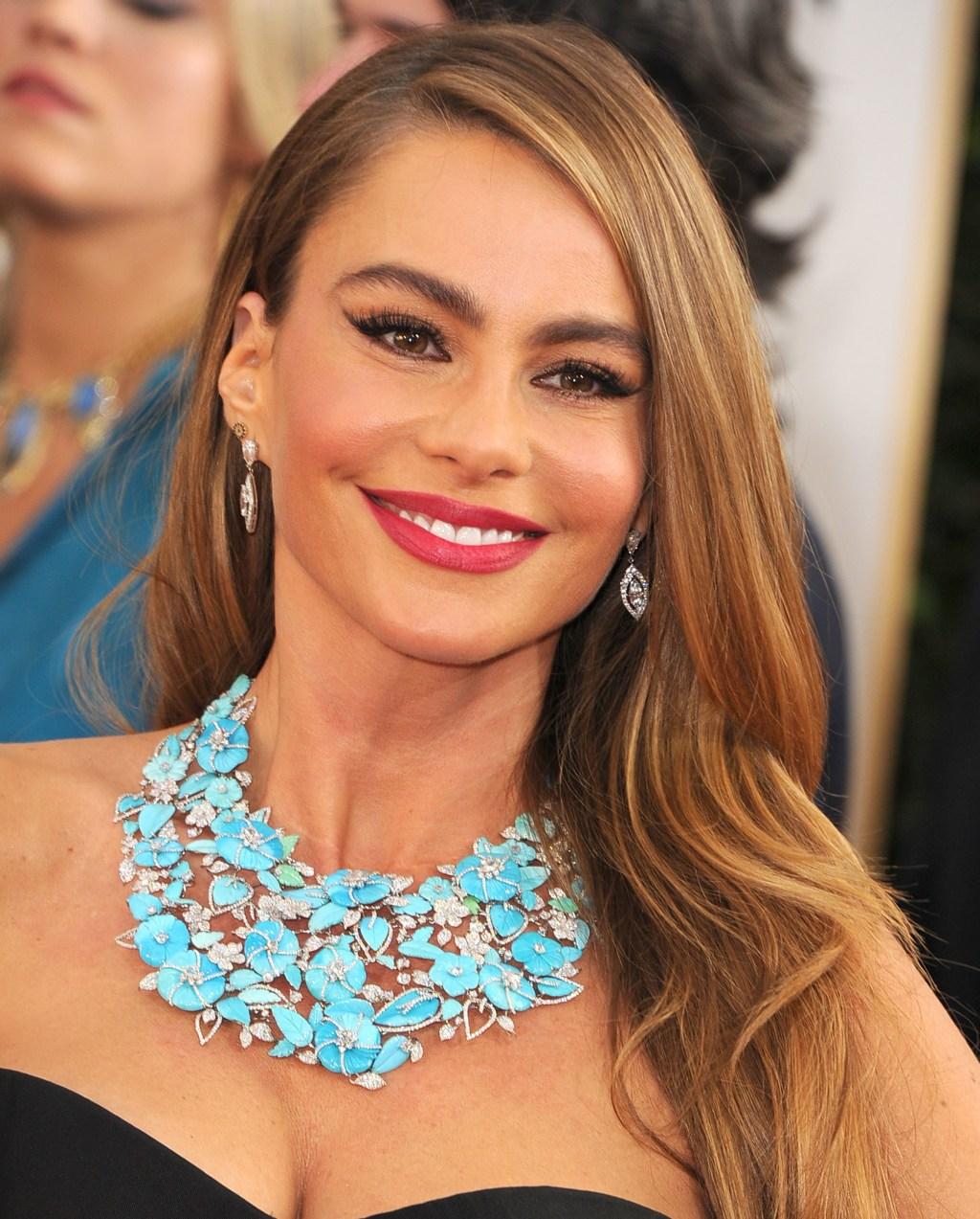 Sofia Vergara, 2014 Golden Globes, jewelry