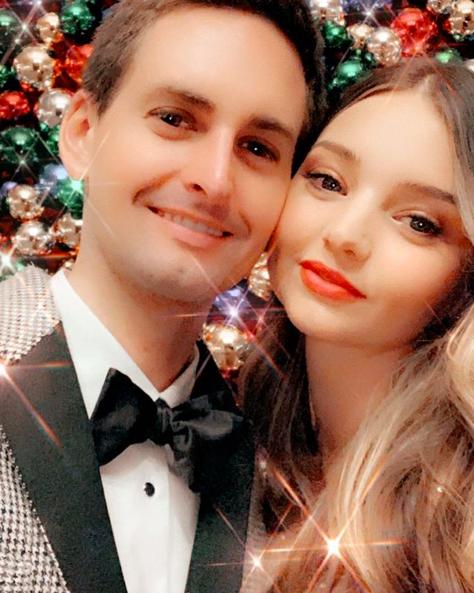 Miranda Kerr, Evan Spiegel, Christmas 2019