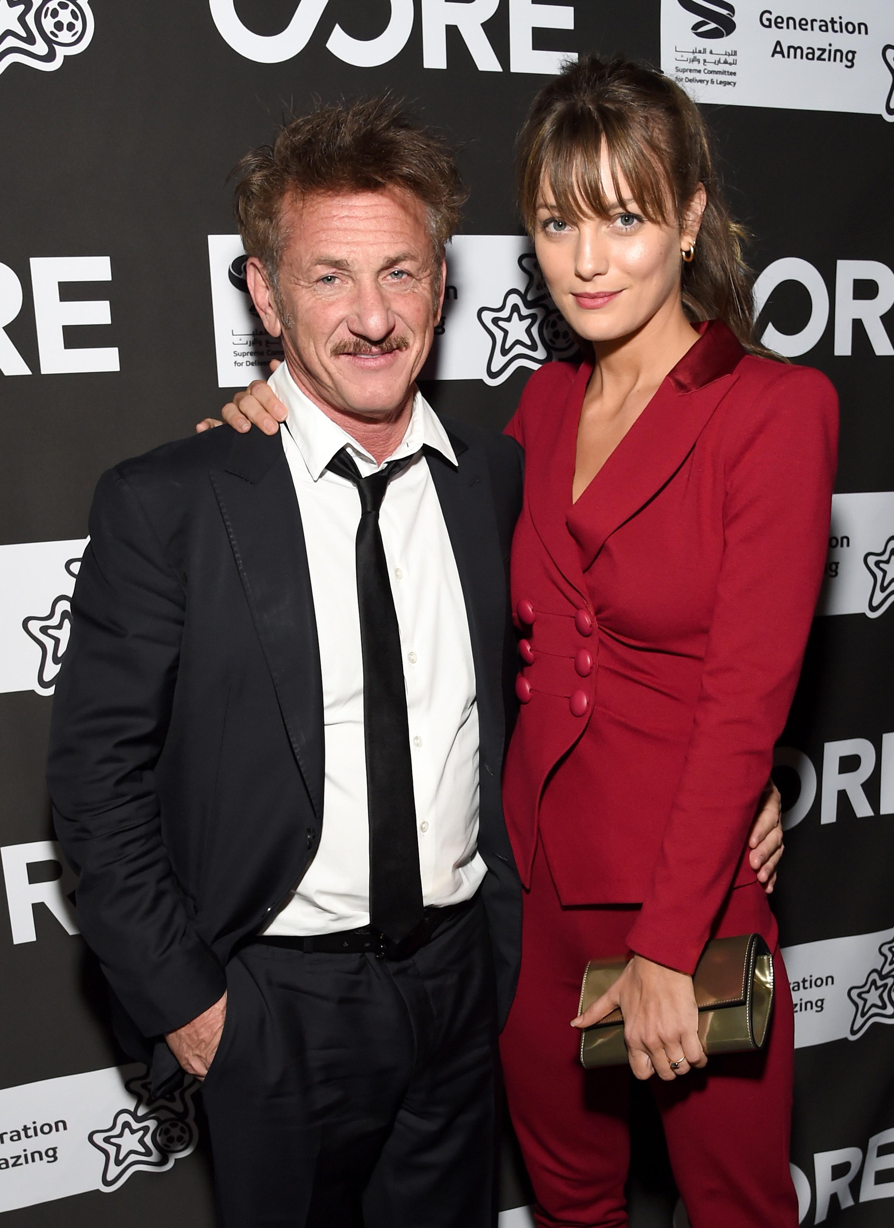 Sean Penn, 59, looks smitten with girlfriend Leila George