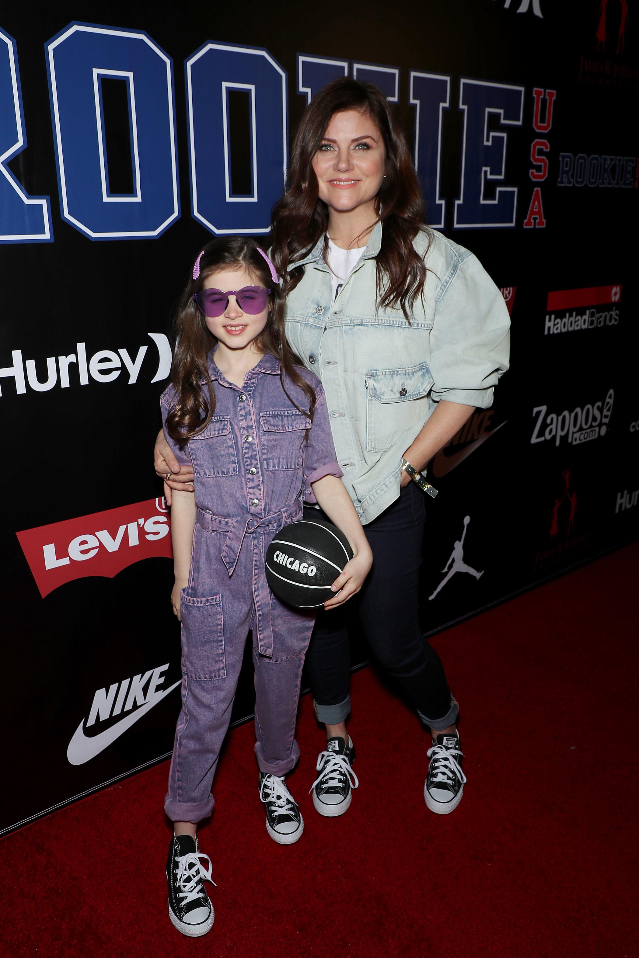 Tiffani Thiessen, daughter Harper Smith