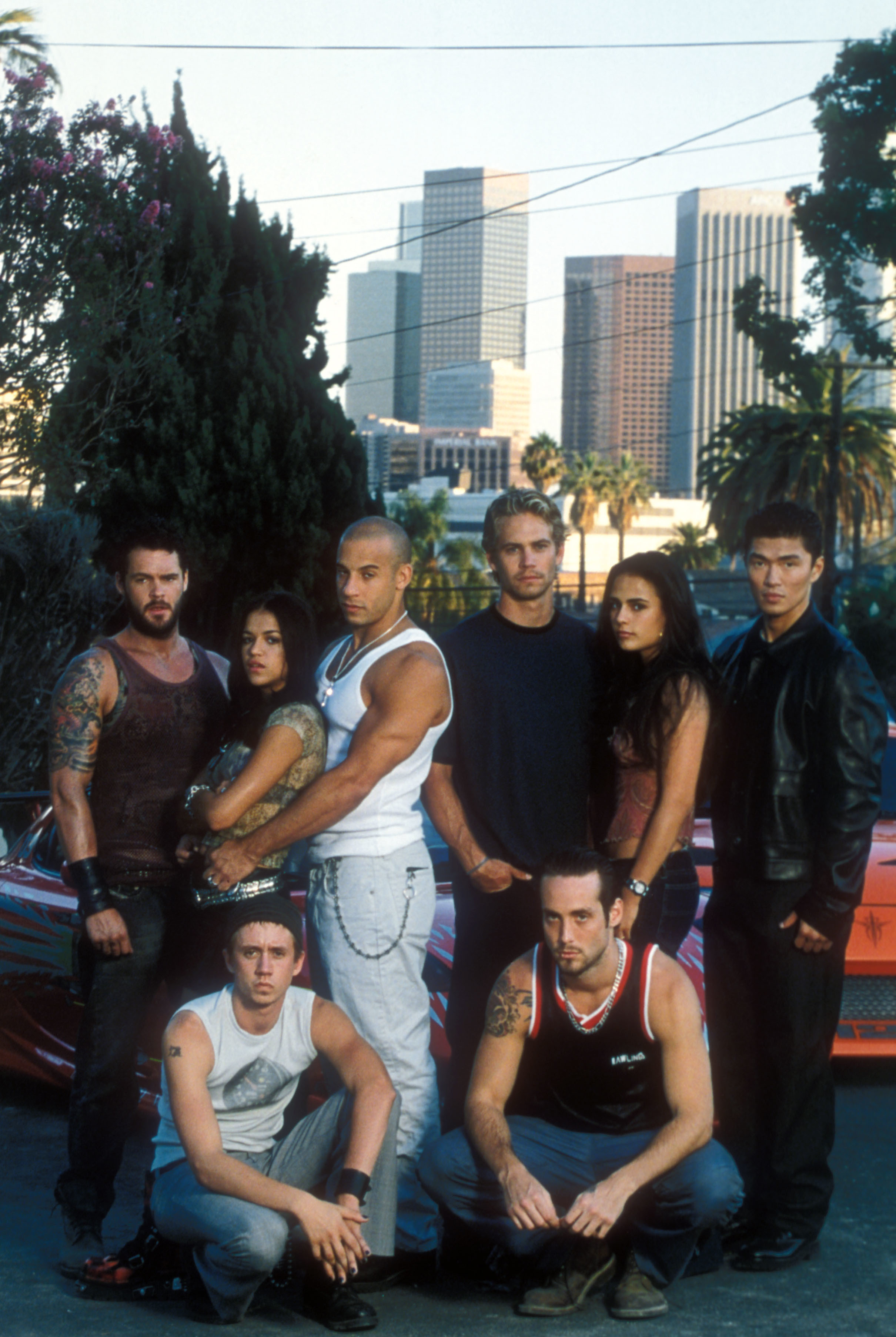 Matt Shulze, Michelle Rodriguez, Vin Diesel, Paul Walker, Jordana Brewster, Rick Yune, Chad Lindberg, Johnny Strong