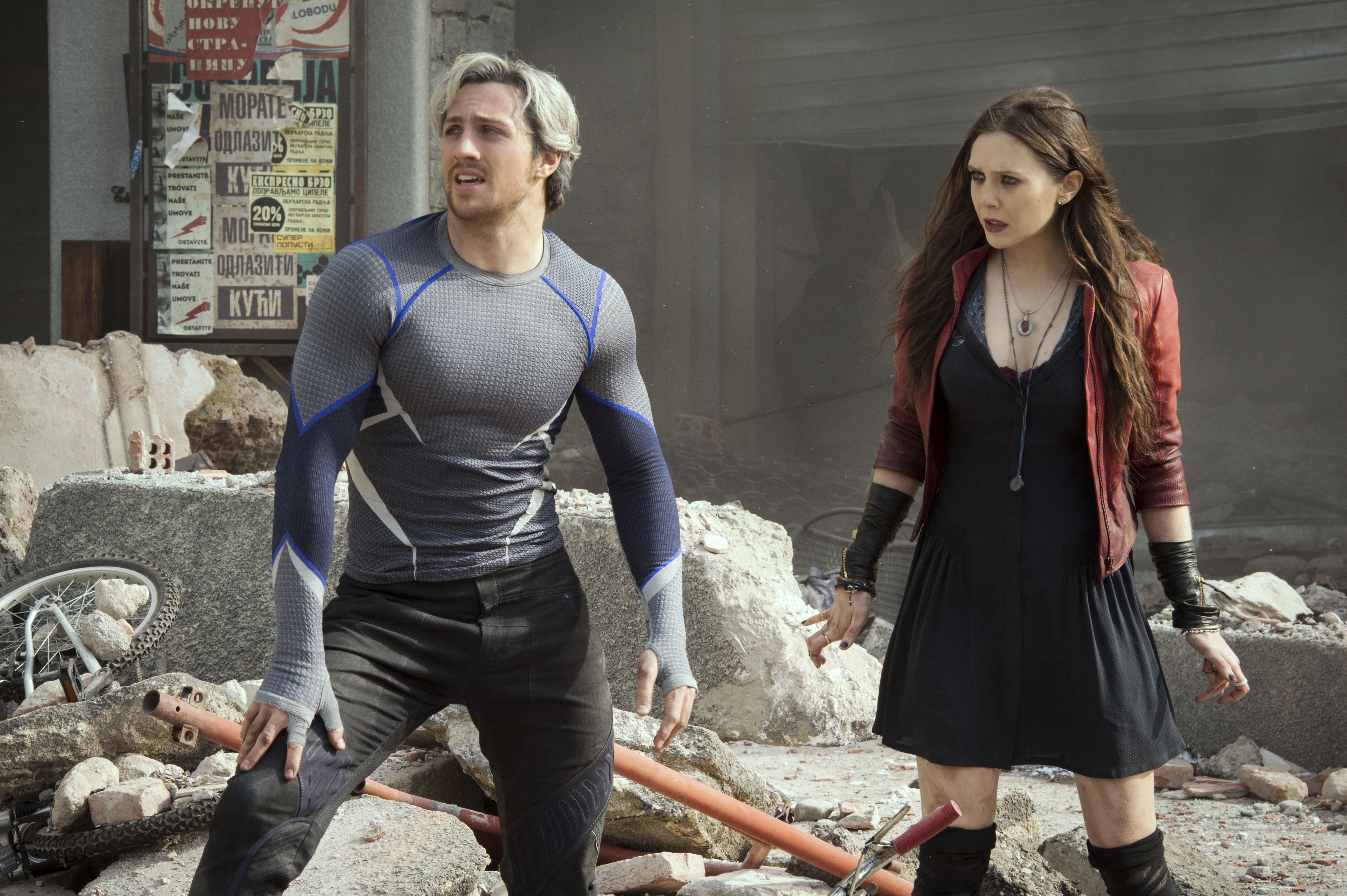 Aaron Taylor-Johnson, Elizabeth Olsen, Avengers – Age Of Ultron