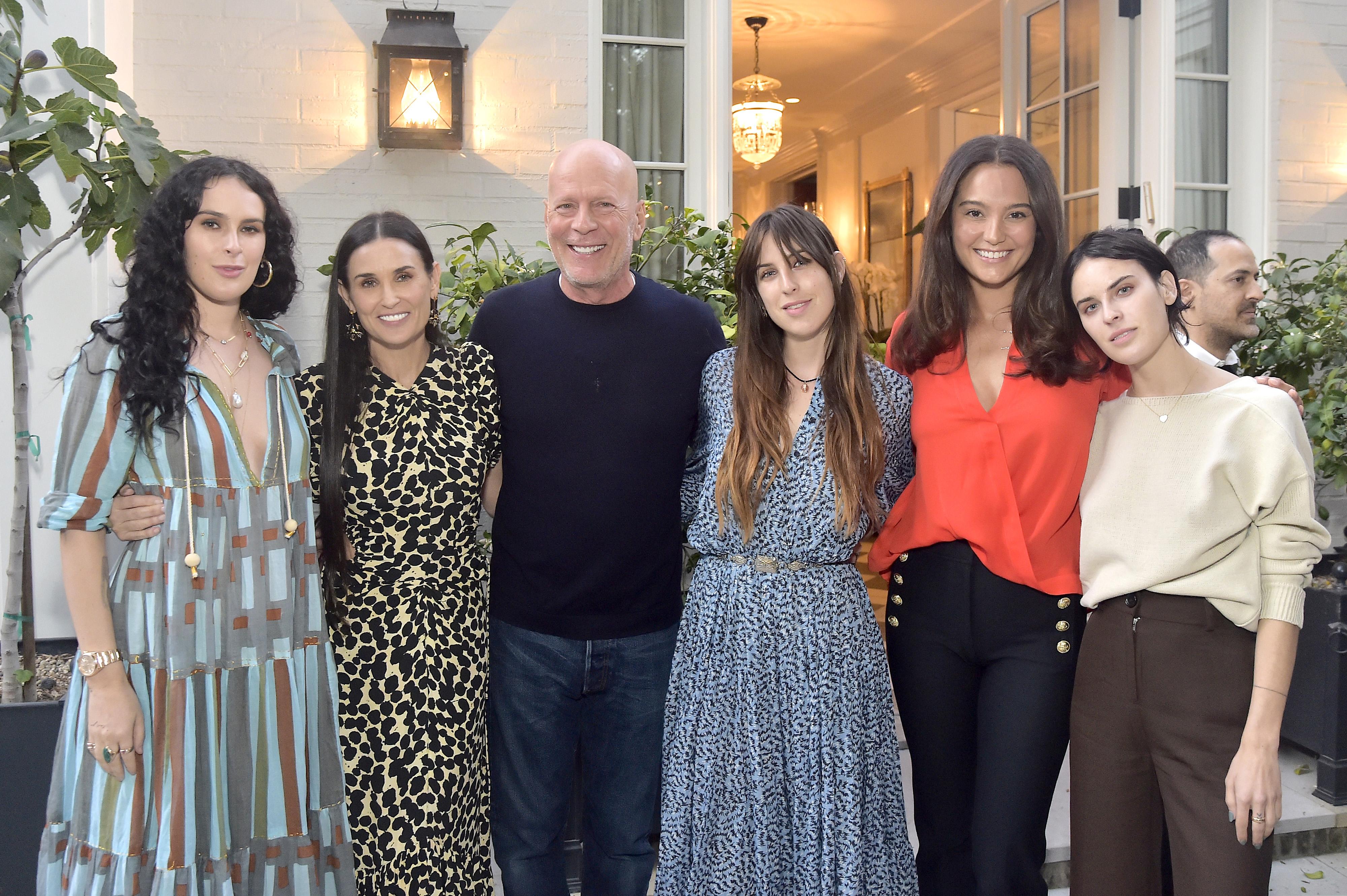 Rumer Willis, Demi Moore, Bruce Willis, Scout Willis, Emma Heming, Tallulah Willis