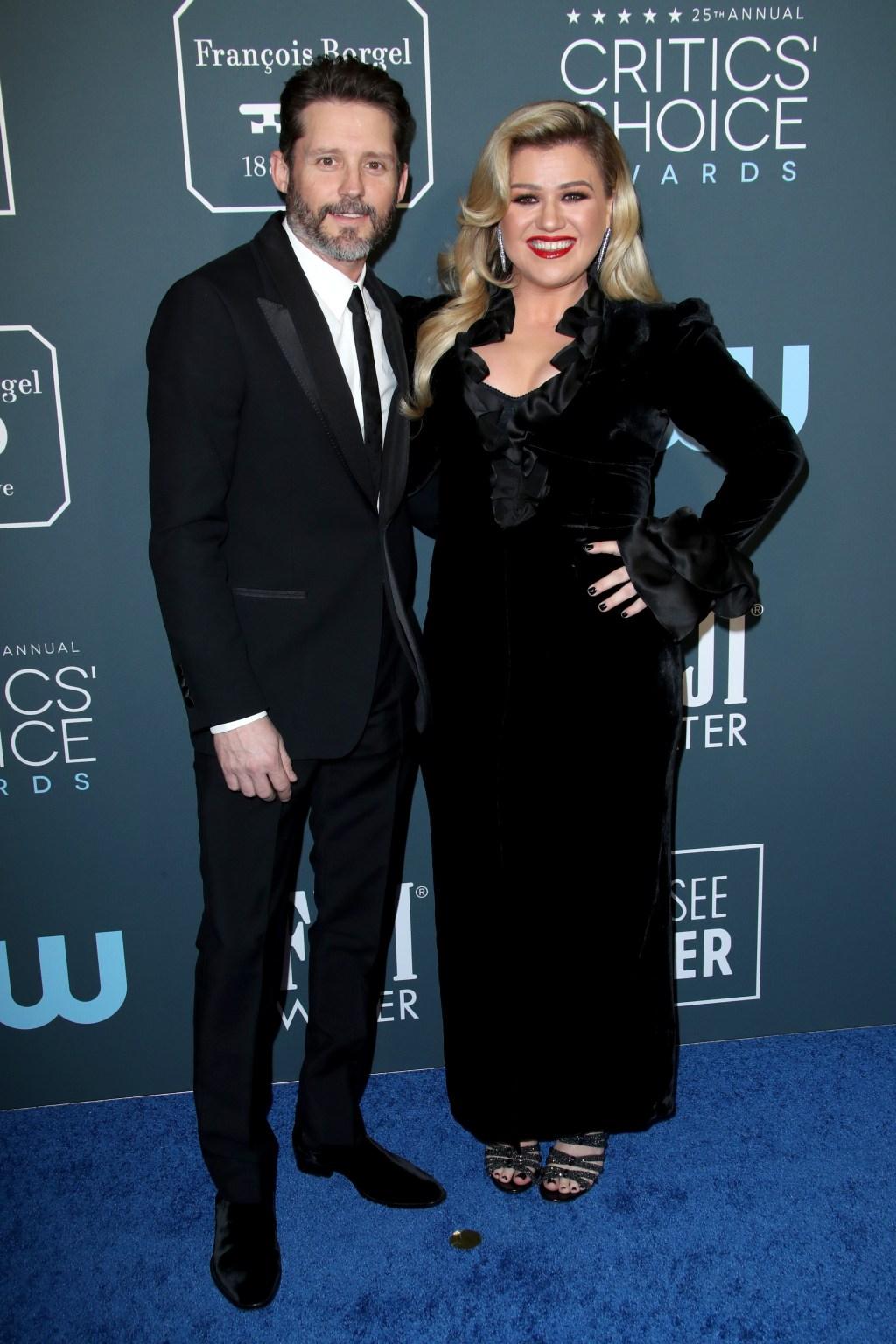 Kelly Clarkson, ex husband Brandon Blackstock, Critics Choice Awards