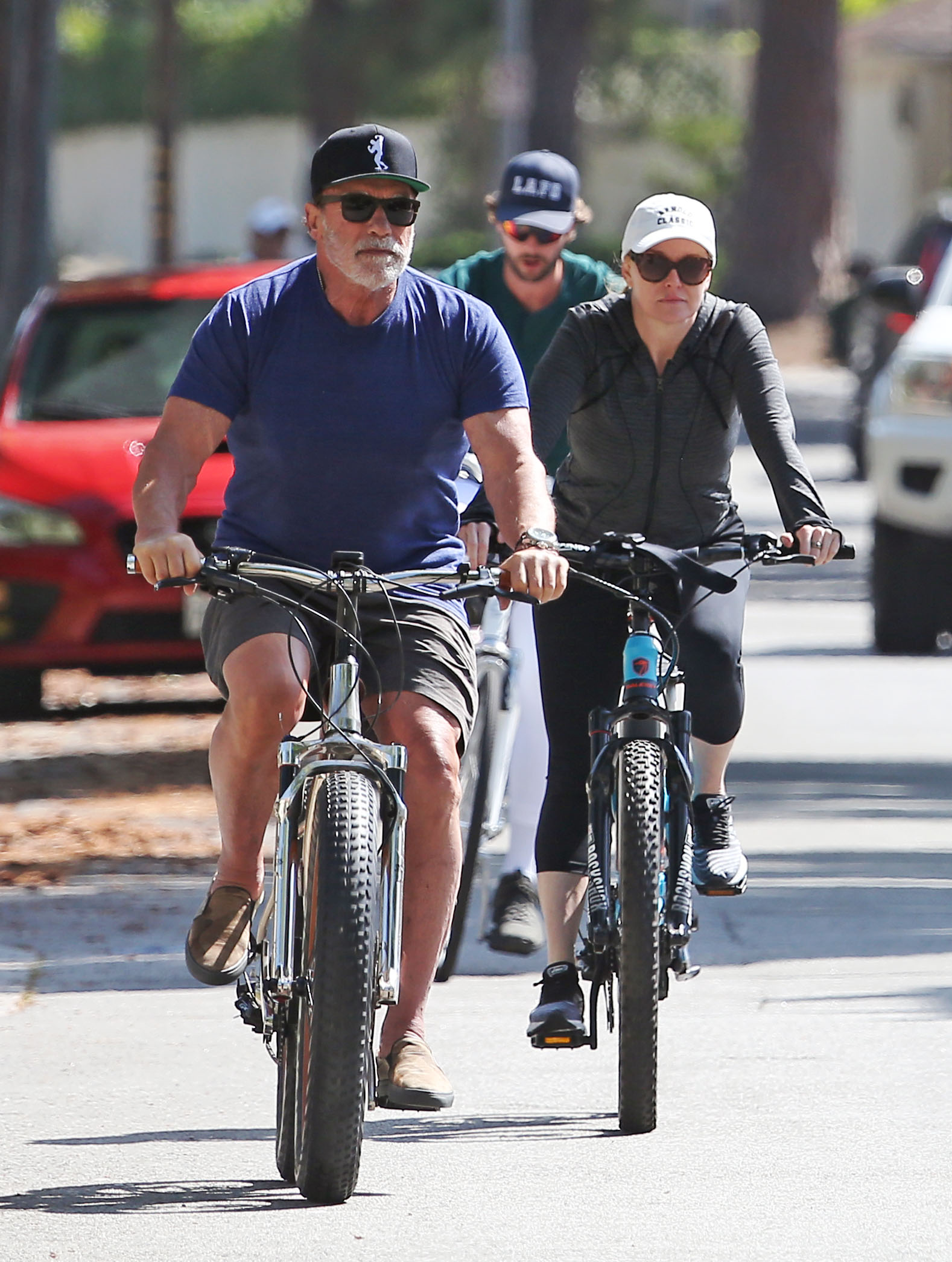Arnold Schwarzenegger and Patrick Schwarzenegger bike rides
