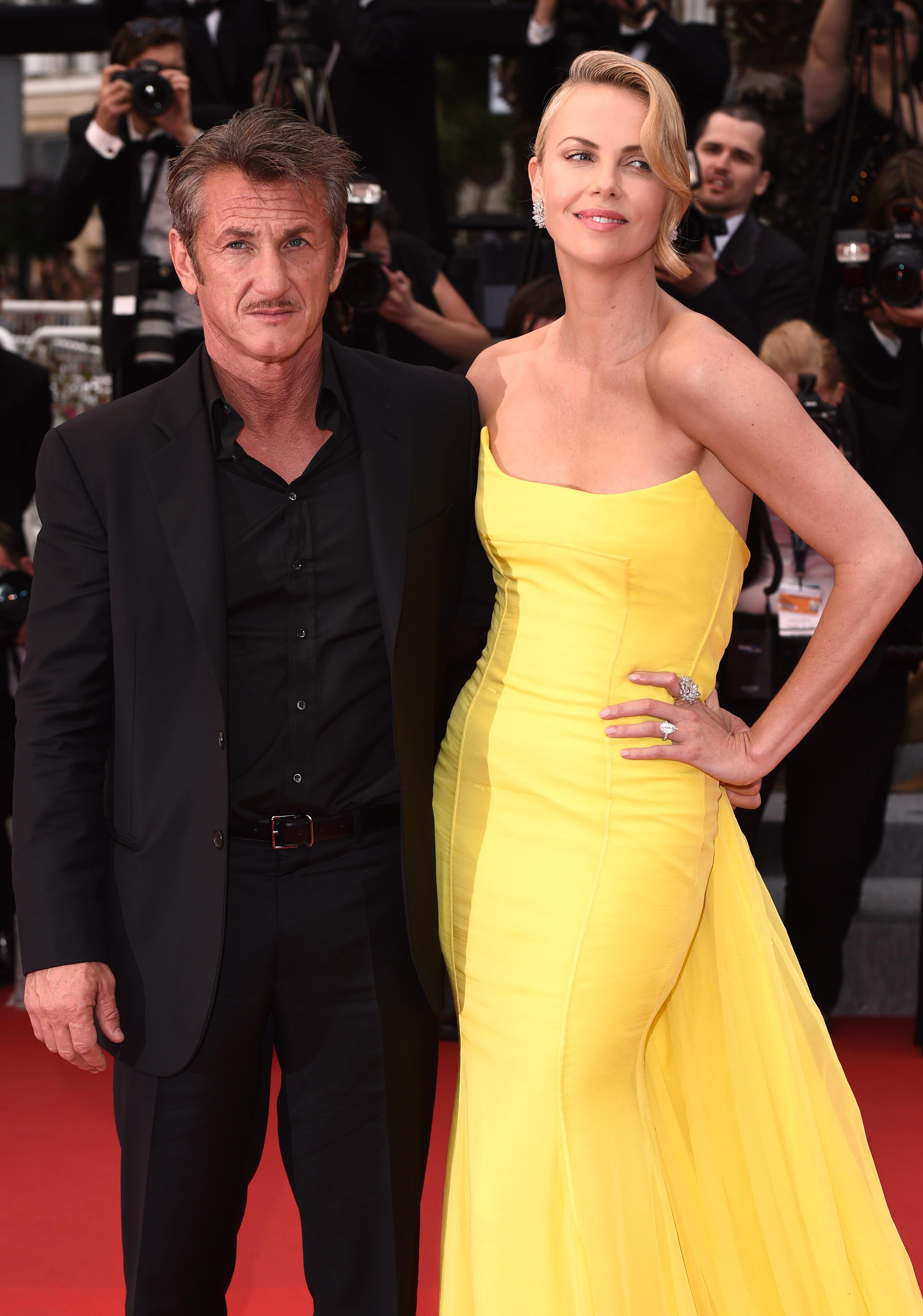 Charlize Theron, ex boyfriend Sean Penn, Cannes