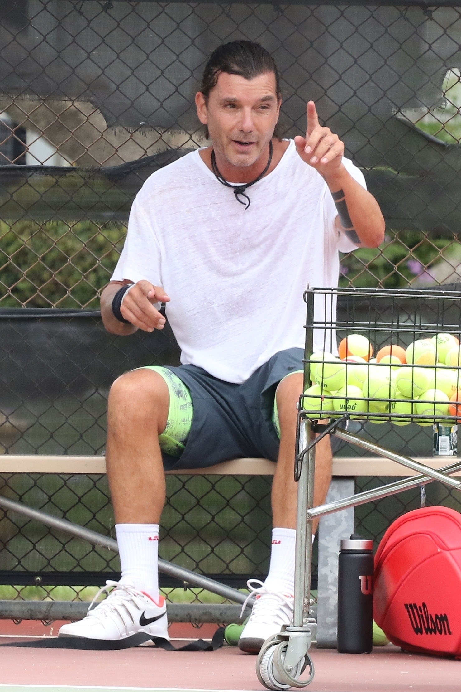 Gavin Rossdale shares his tennis secrets with little Apollo!