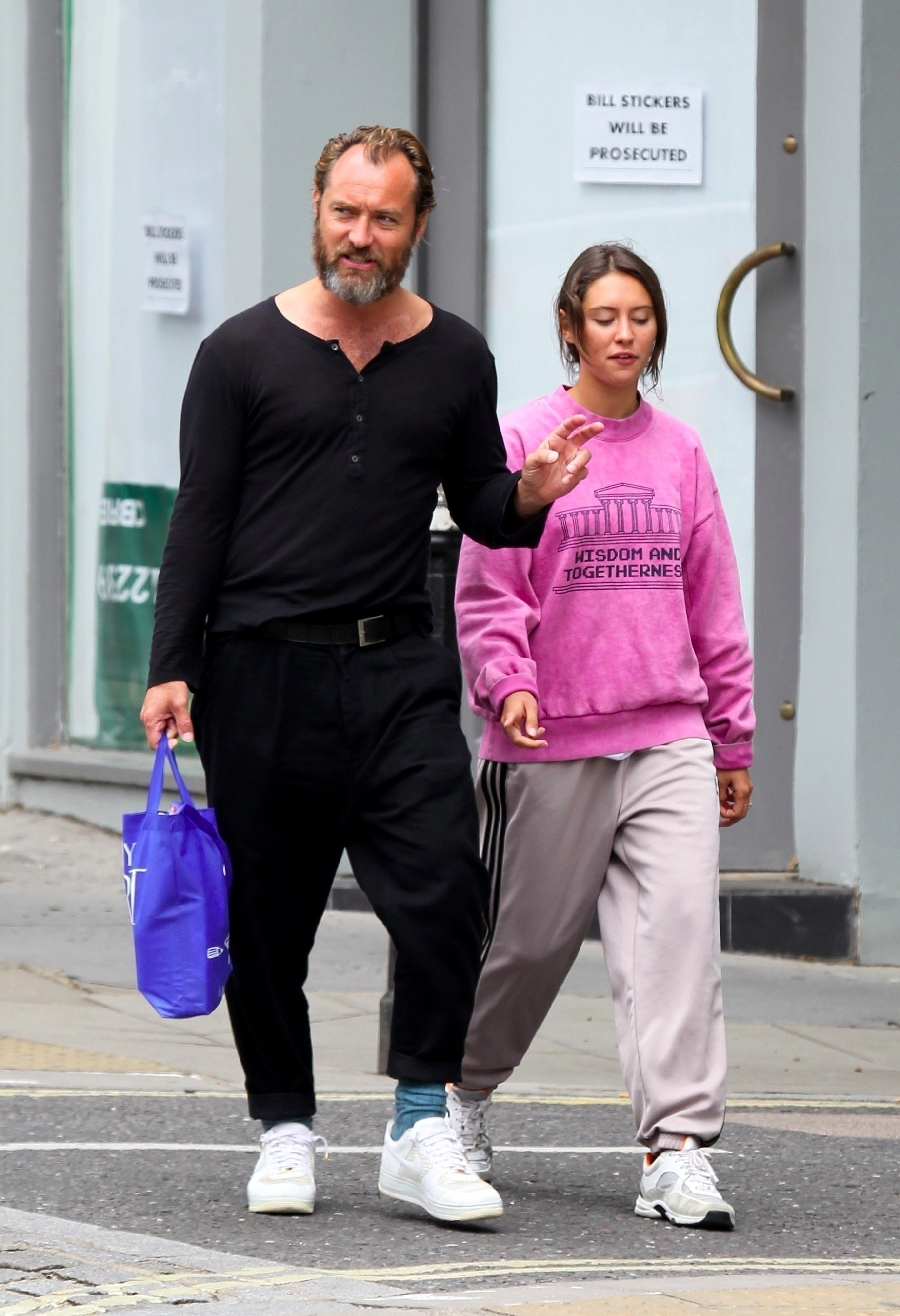 Jude Law and model daughter Iris
