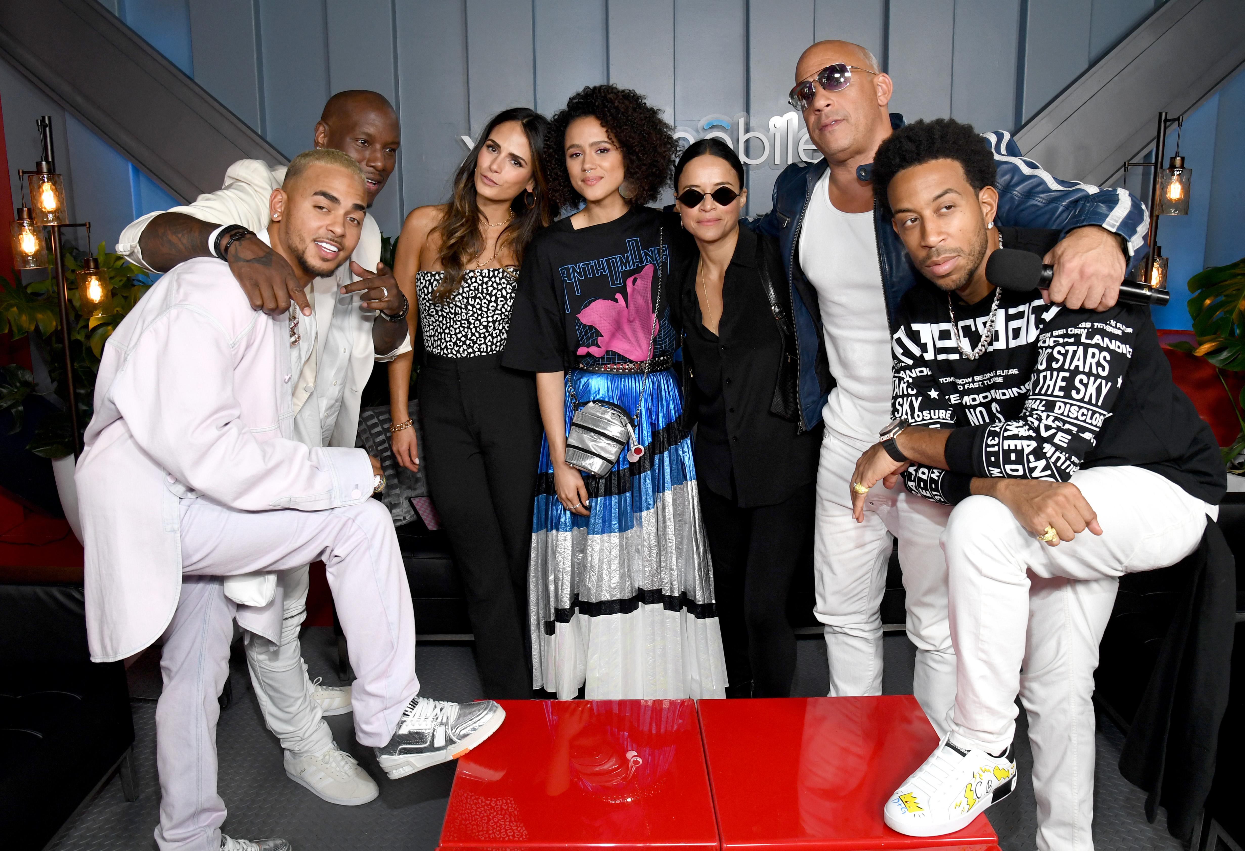 Vin Diesel, Ozuna, Tyrese Gibson, Jordana Brewster, Nathalie Emmanuel, Michelle Rodriguez, Ludacris