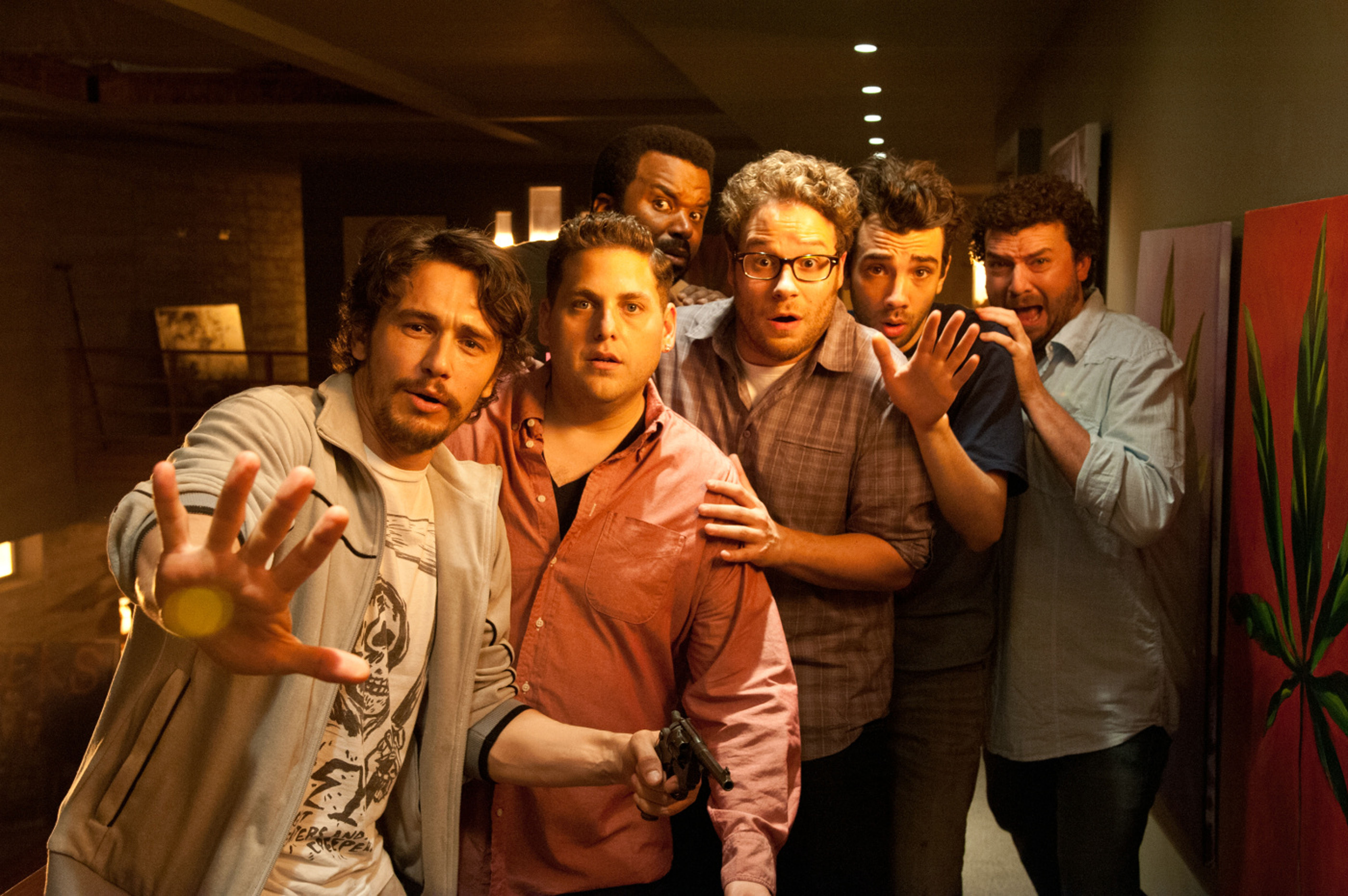 This is the End, James Franco, Jonah Hill, Craig Robinson, Seth Rogen, Jay Baruchel, Danny McBride