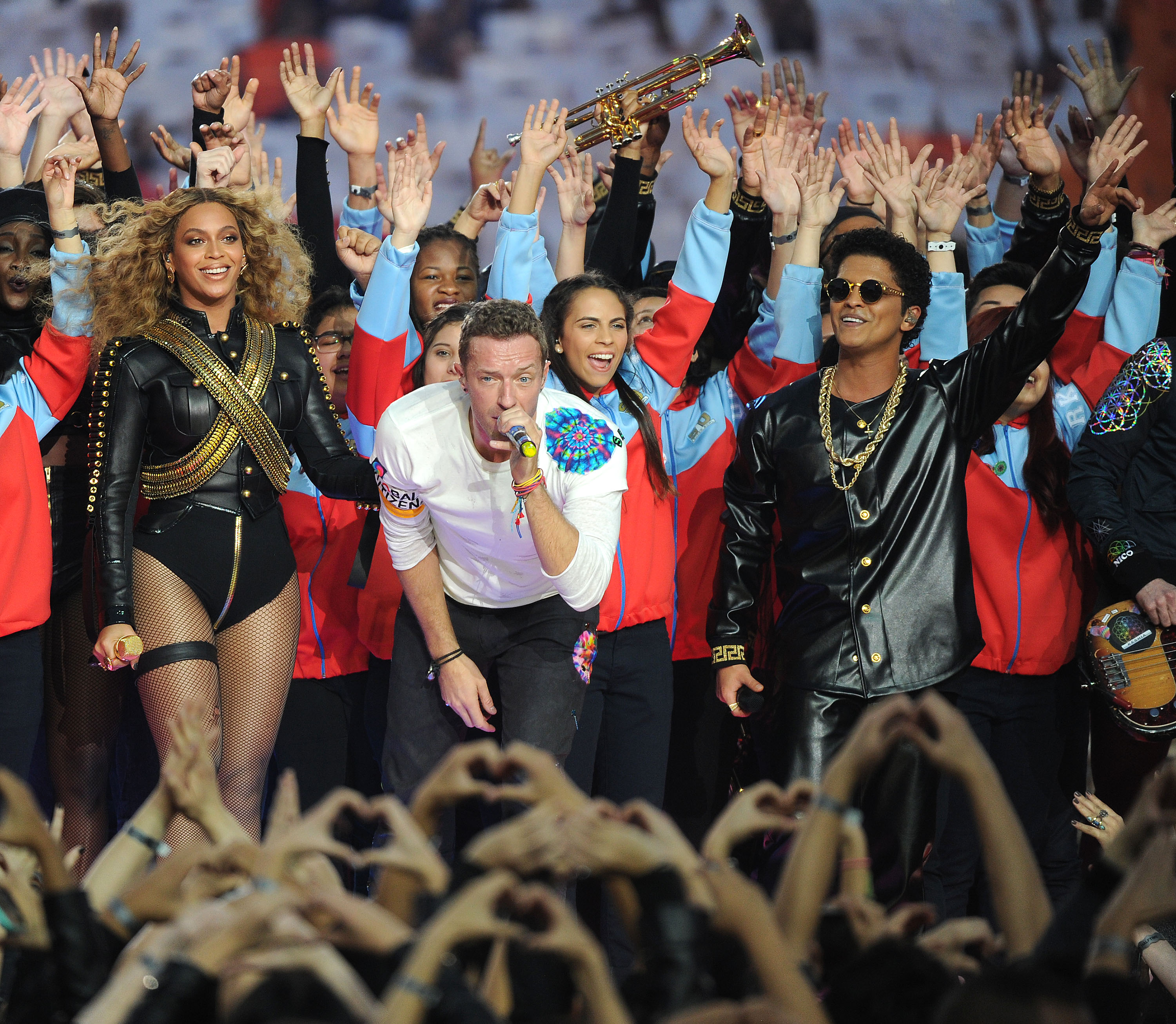 Beyonce Knowles, Chris Martin, Bruno Mars