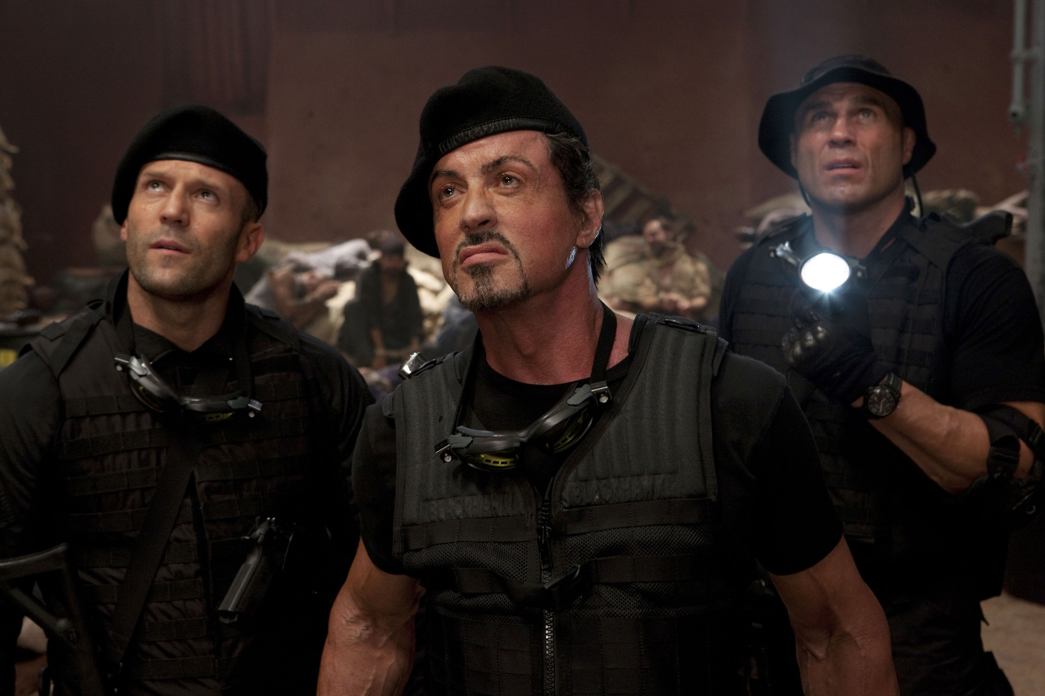 Jason Statham, Sylvester Stallone, Randy Couture, The Expendables