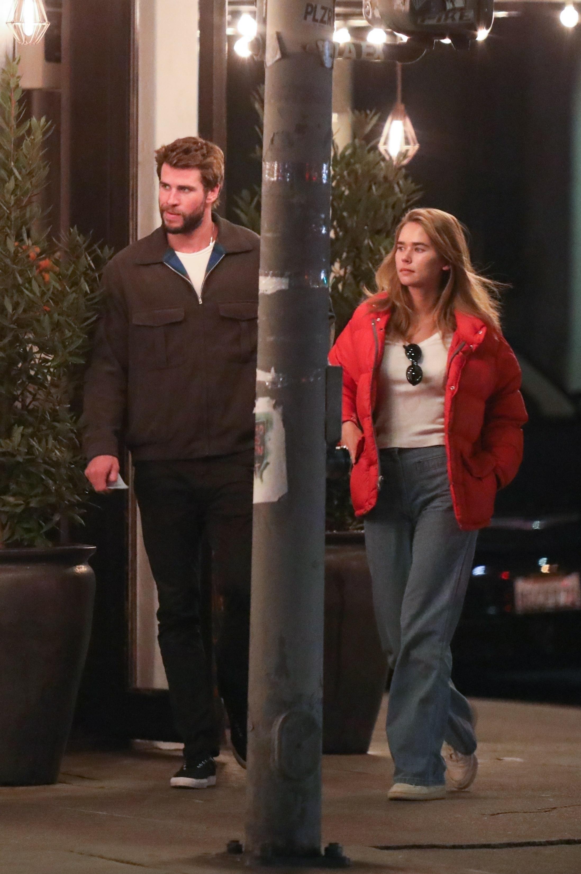 Liam Hemsworth, girlfriend Gabriella Brooks