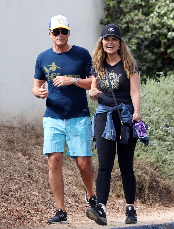 Rob Lowe and Maria Shriver