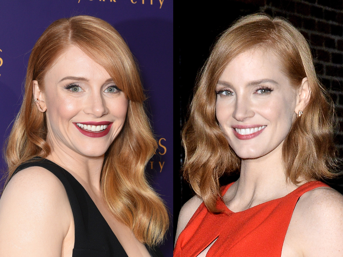 Bryce Dallas Howard, Jessica Chastain lookalikes