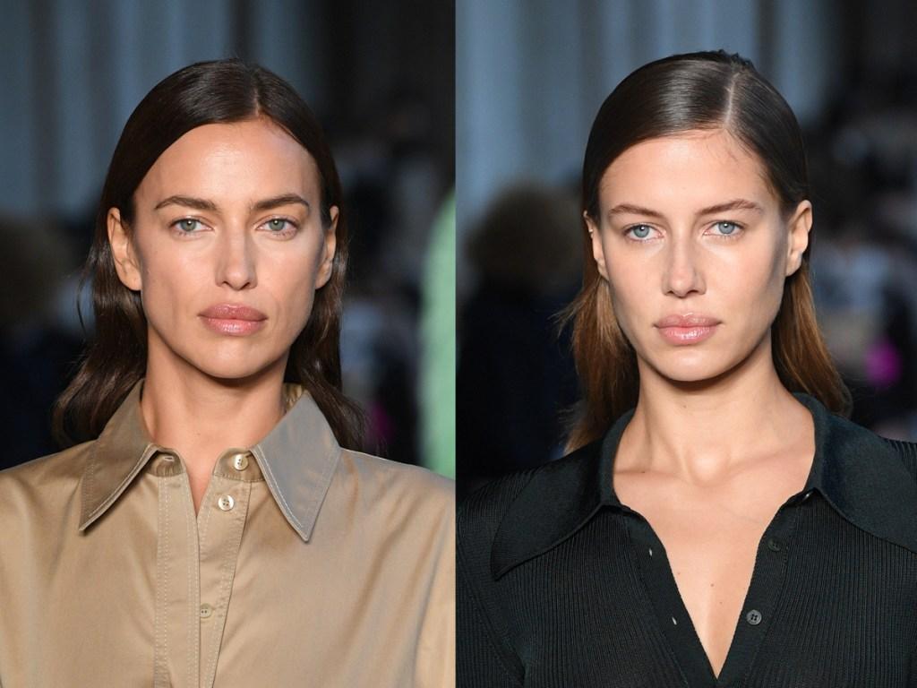 Irina Shayk, Nicole Poturalski, Nico Mary lookalike split image