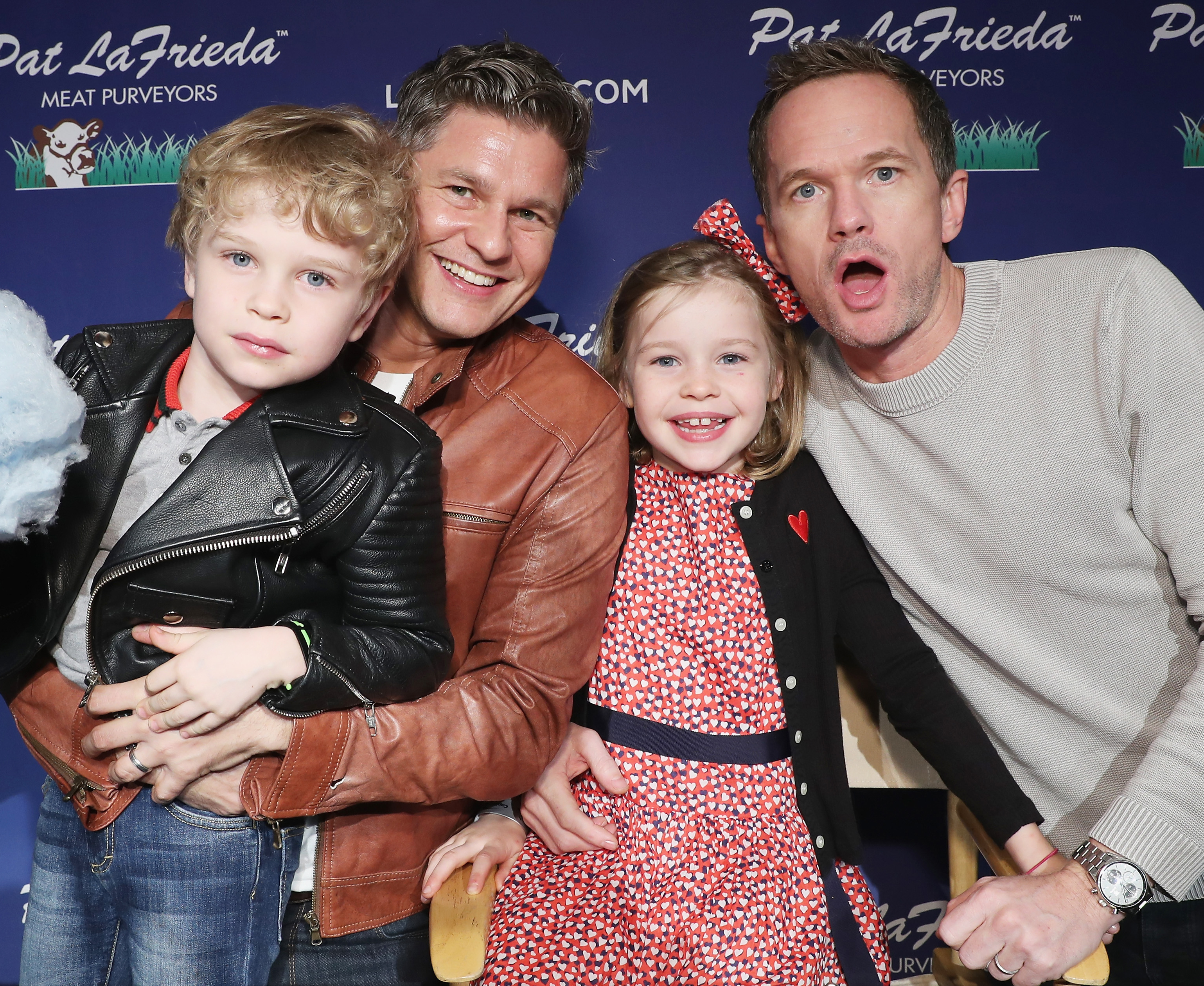 Neil Patrick Harris, David Burtka, kids Gideon and Harper