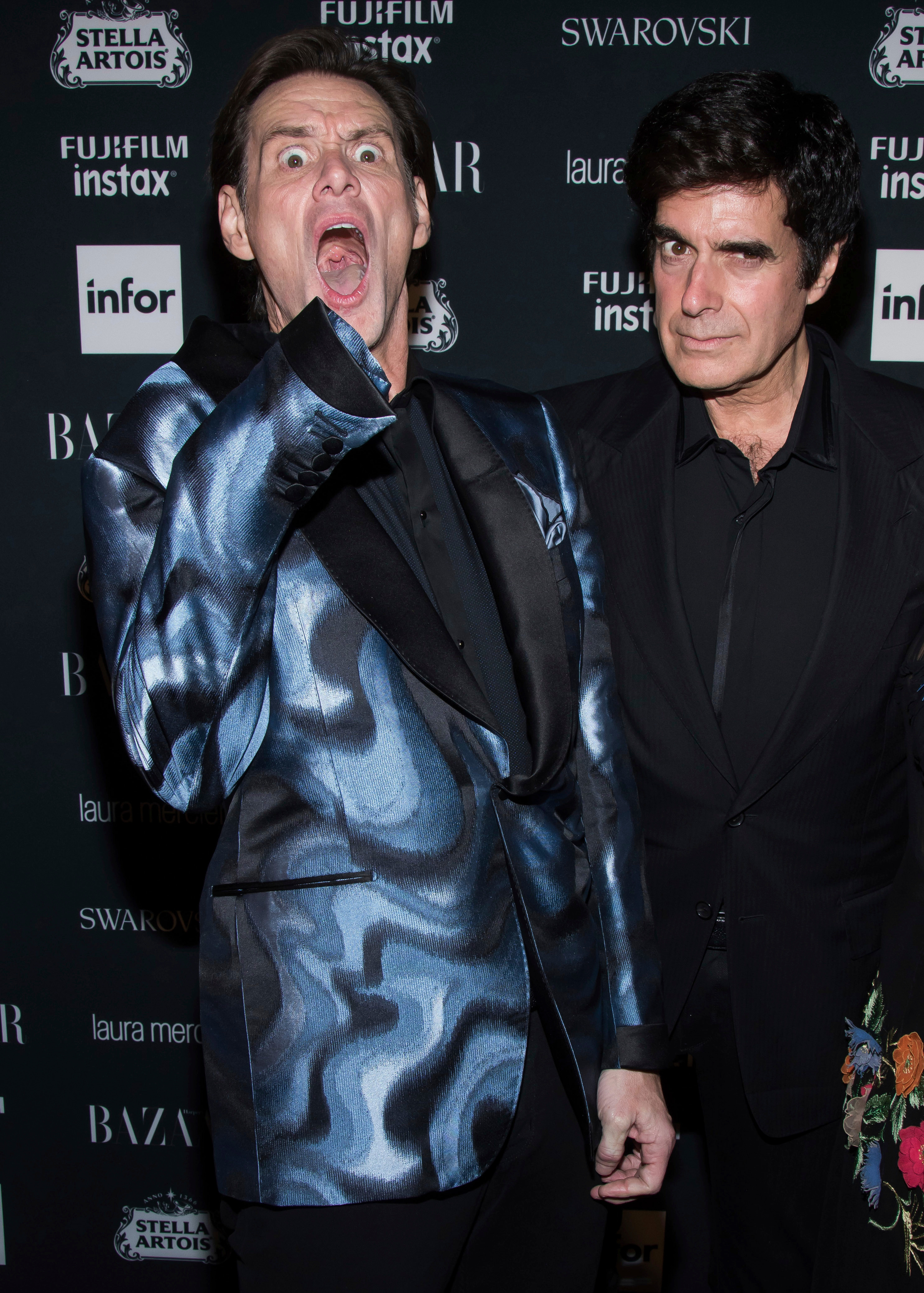 Jim Carrey and David Copperfield