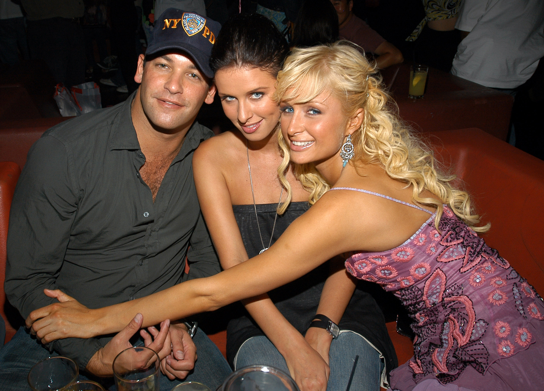 Todd Meister, Nicky Hilton and Paris Hilton