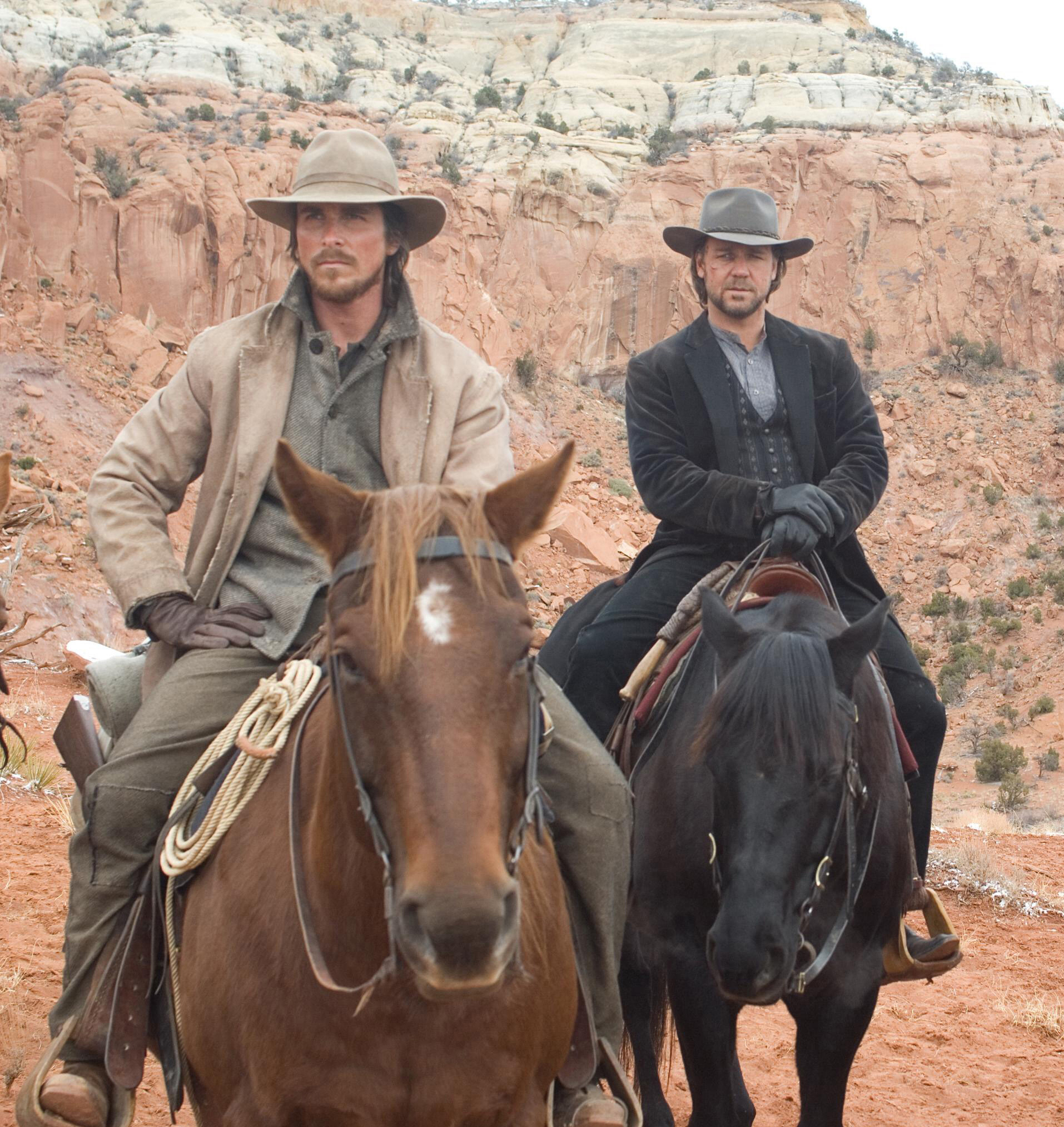 3 10 to Yuma, Christian Bale, Russell Crowe