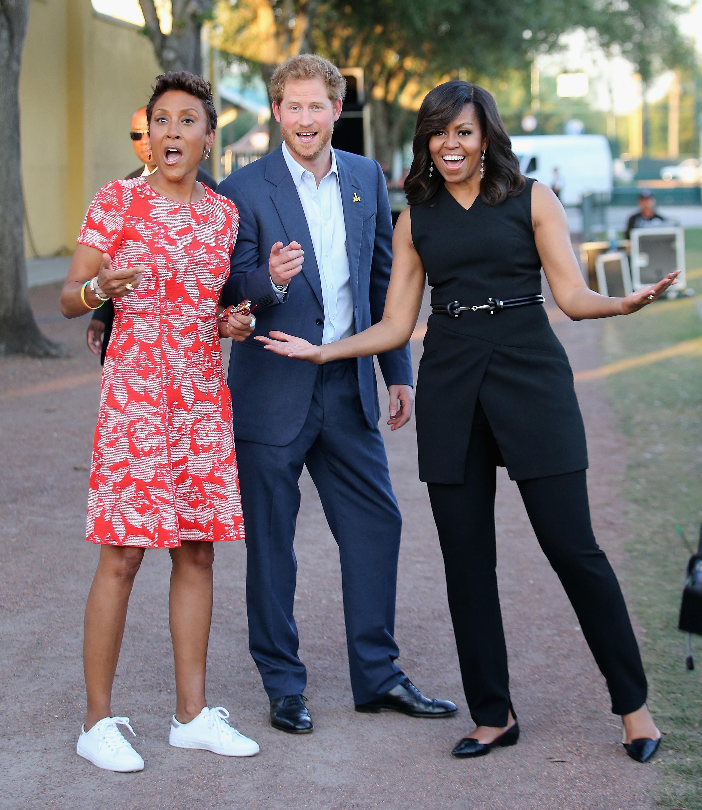 Prince Harry, Michelle Obama, Robin Roberts