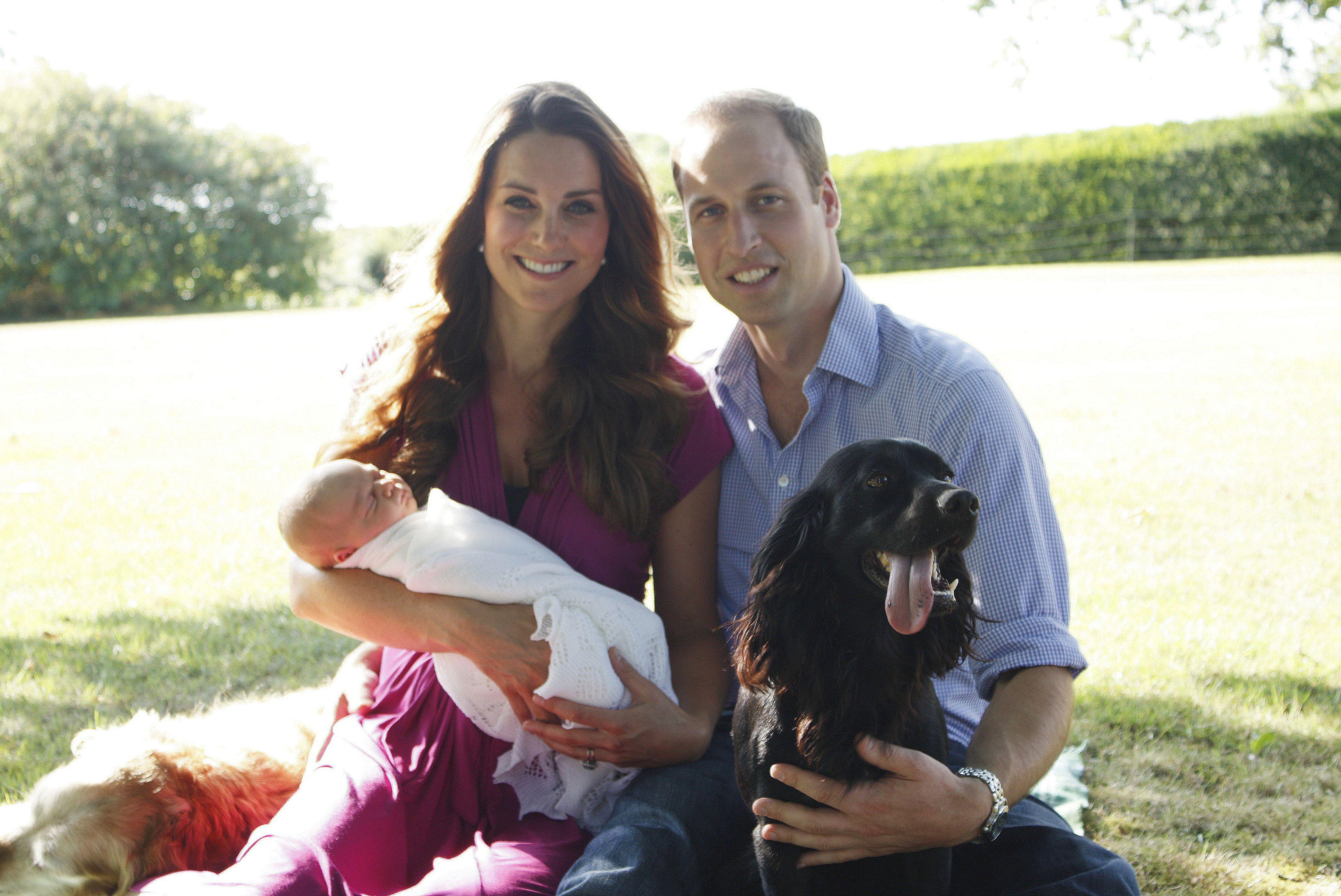 Prince William, Duchess Kate, Prince George, Lupo