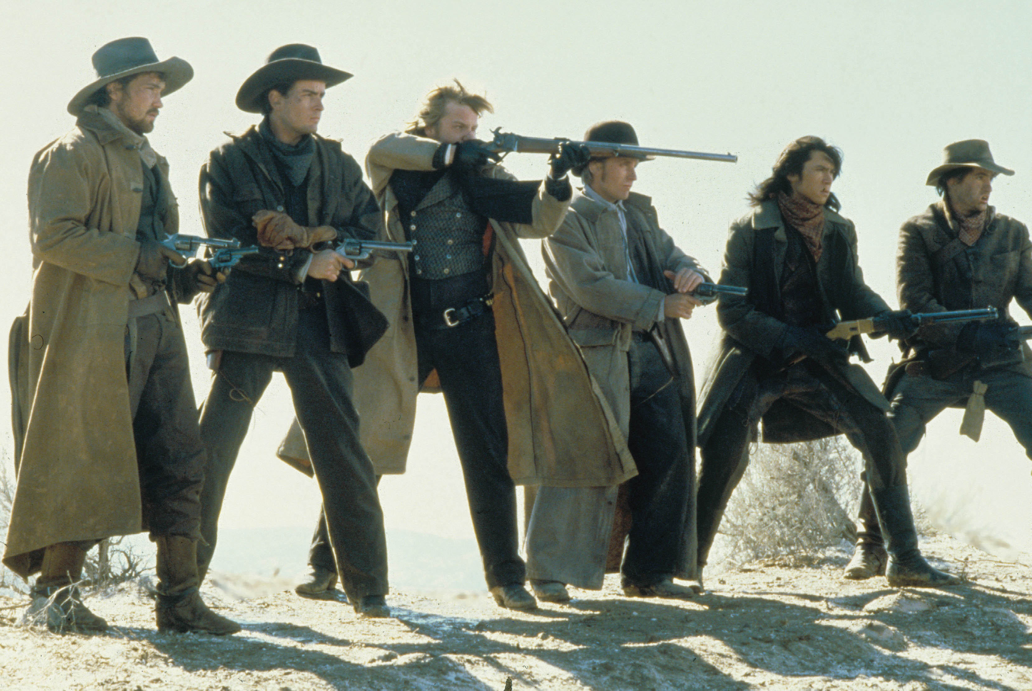 Young Guns, Casey Siemaszko, Charlie Sheen, Kiefer Sutherland, Emilio Estevez, Lou Diamond Phillips, Dermot Mulroney