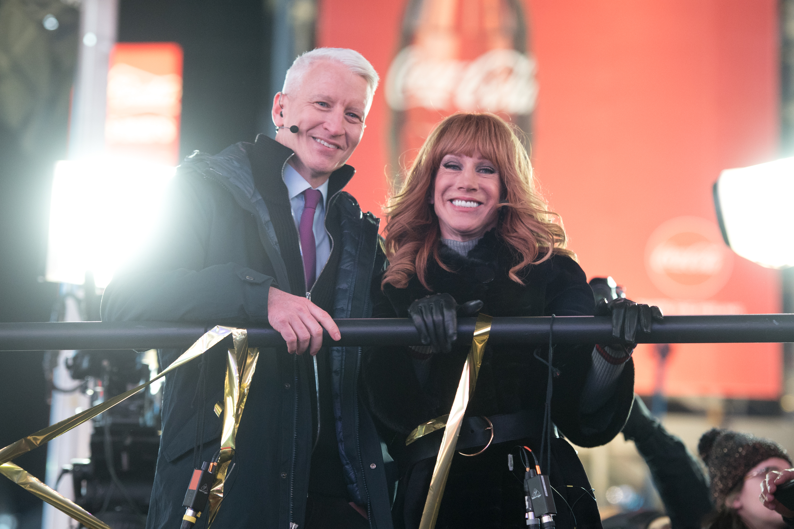 New Year's Eve Anderson Cooper and Kathy Griffin
