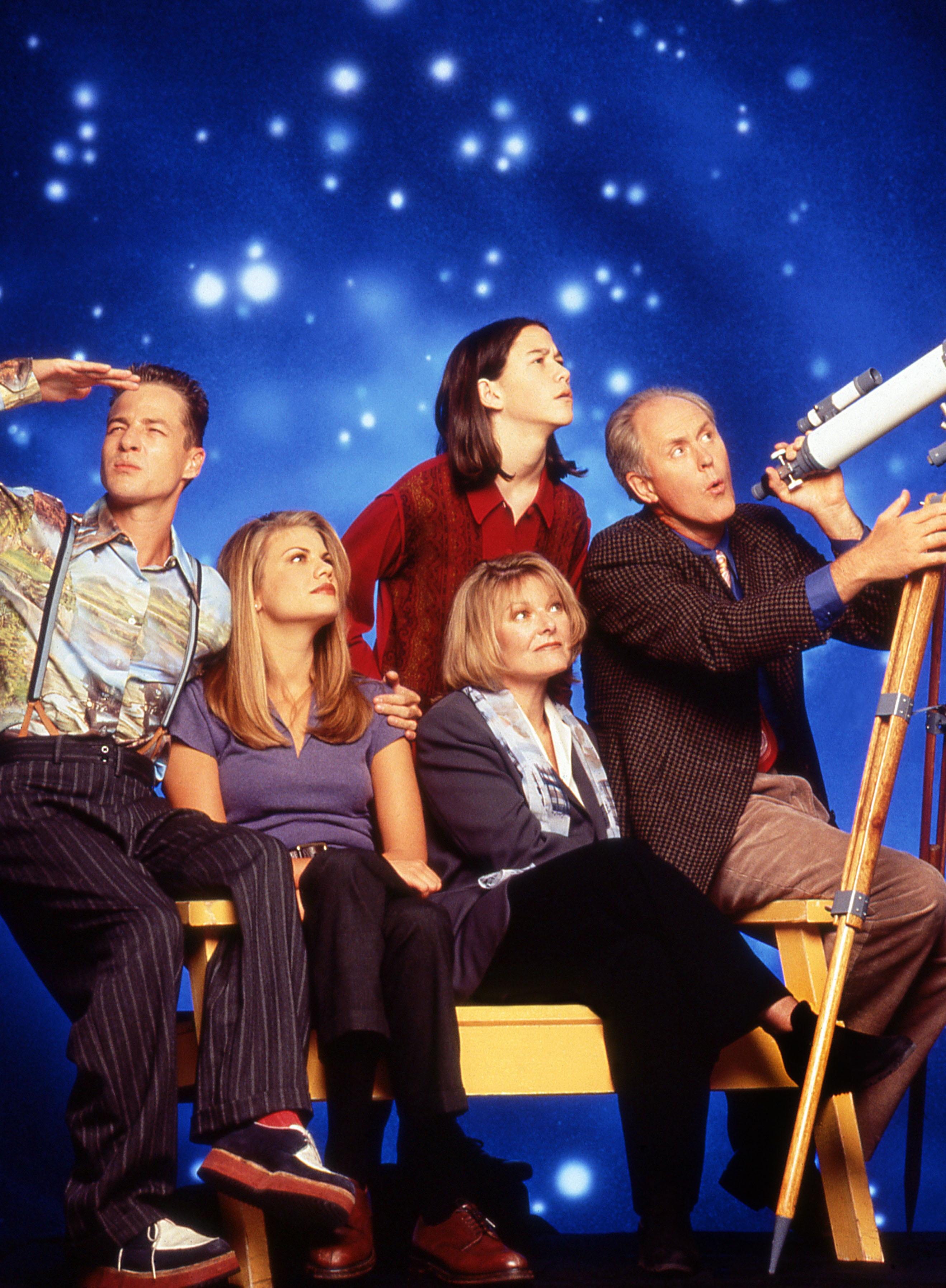 French Stewart, Kristen Johnston, Joseph Gordon-Levitt, Jane Curtin, John Lithgow, 3rd Rock From the Sun, 1996