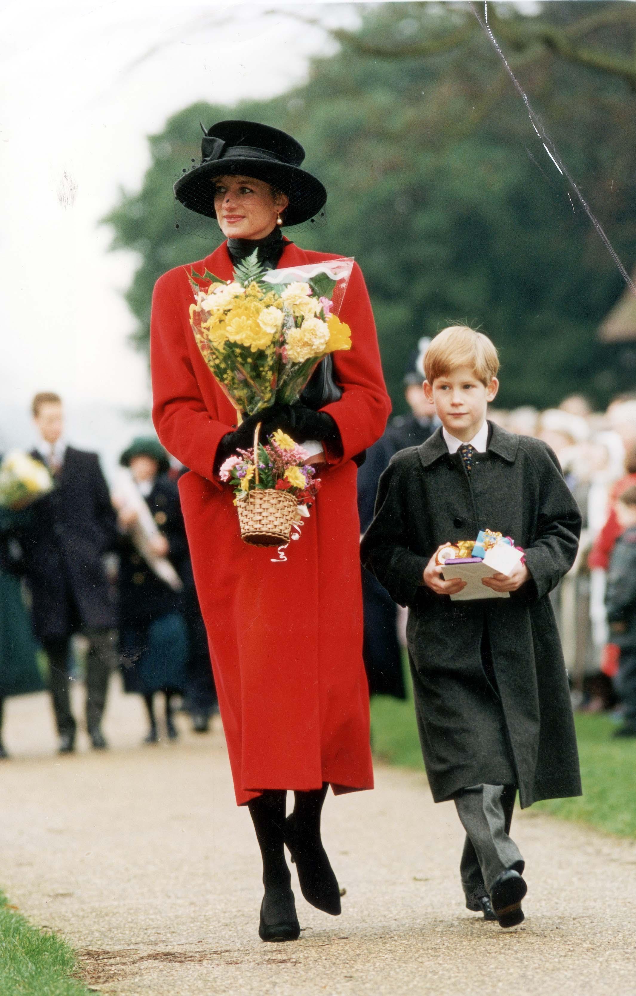 Princess Diana, Prince Harry, Christmas