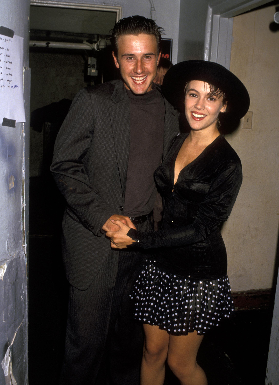 David Arquette and Alyssa Milano