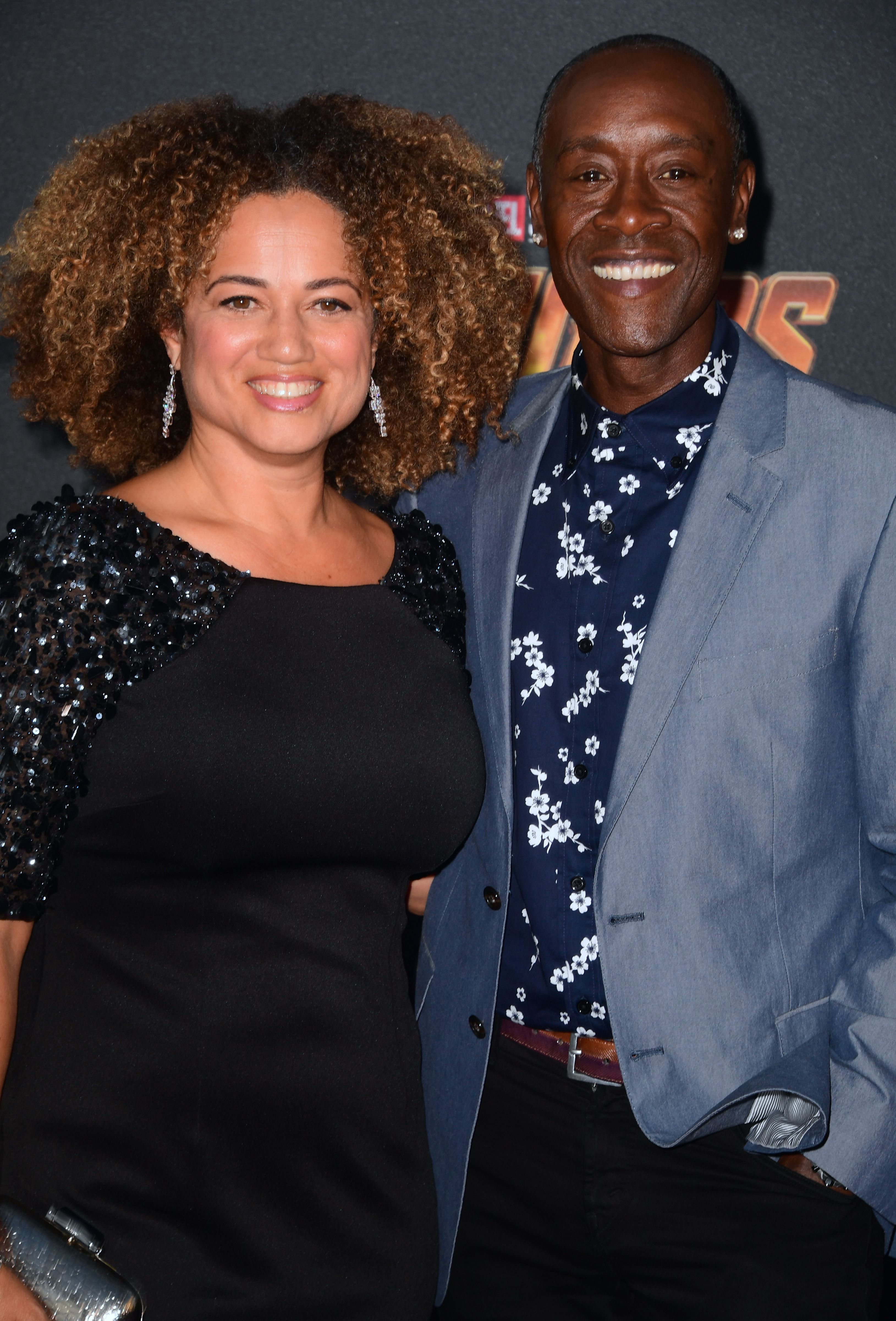 Don Cheadle and his wife Brigid Coulter