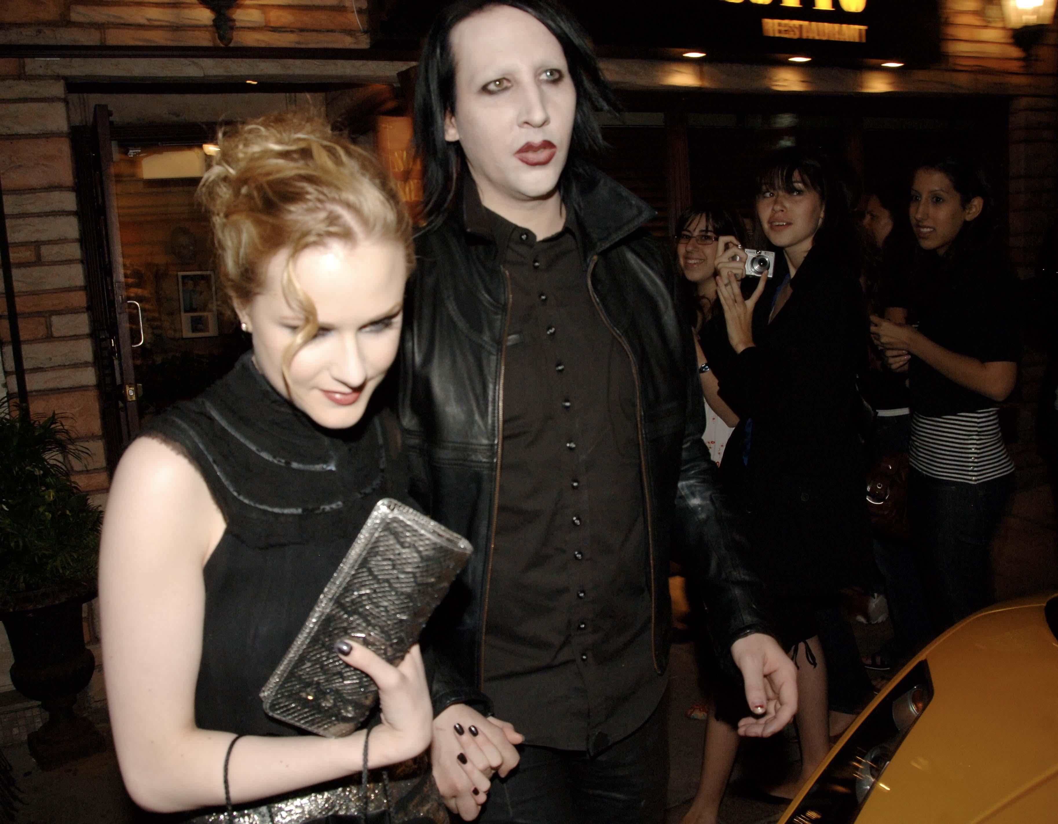 Marilyn Manson and Evan Rachel Wood l