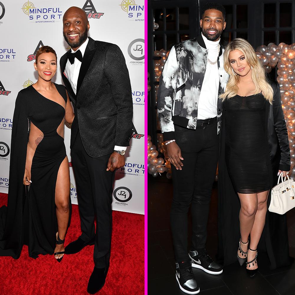 Lamar Odom, ex fiance Sabrina Parr, ex wife Khloe Kardashian, boyfriend Tristan Thompson