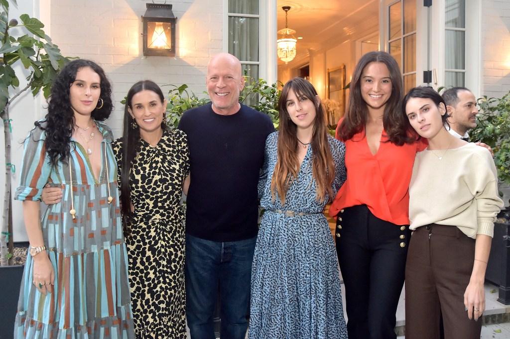 Bruce Willis Demi Moore Emma Heming daughters