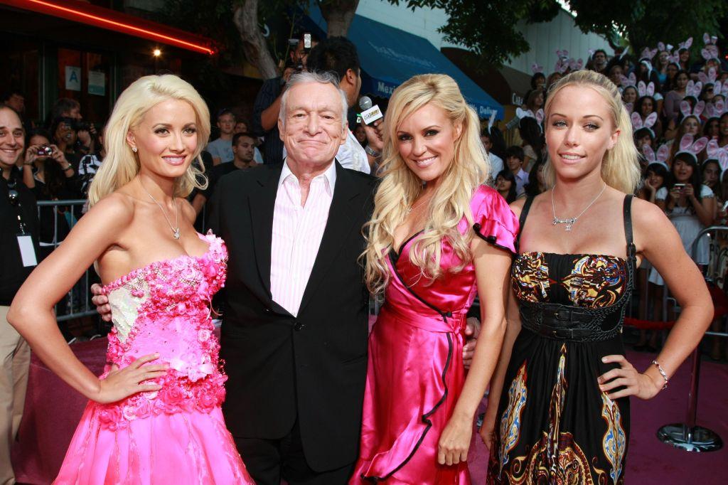 Holly Madison, Hugh Hefner, Bridget Marquardt and Kendra Wilkinson