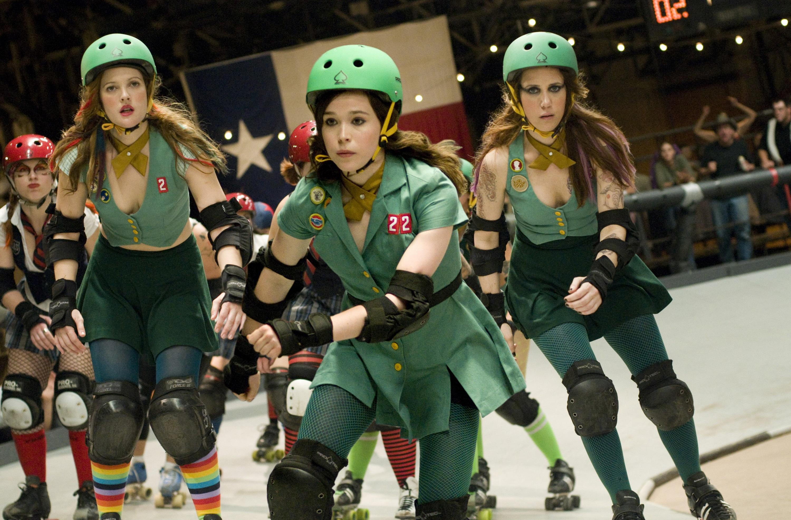 Drew Barrymore, Ellen Page, Kristen Wiig, Whip It