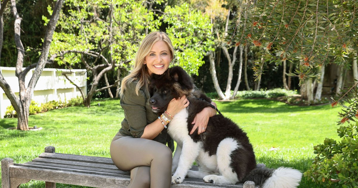 Sarah Michelle Gellar cuddles her Akita puppy, more celebs and their pets in 2021.jpg