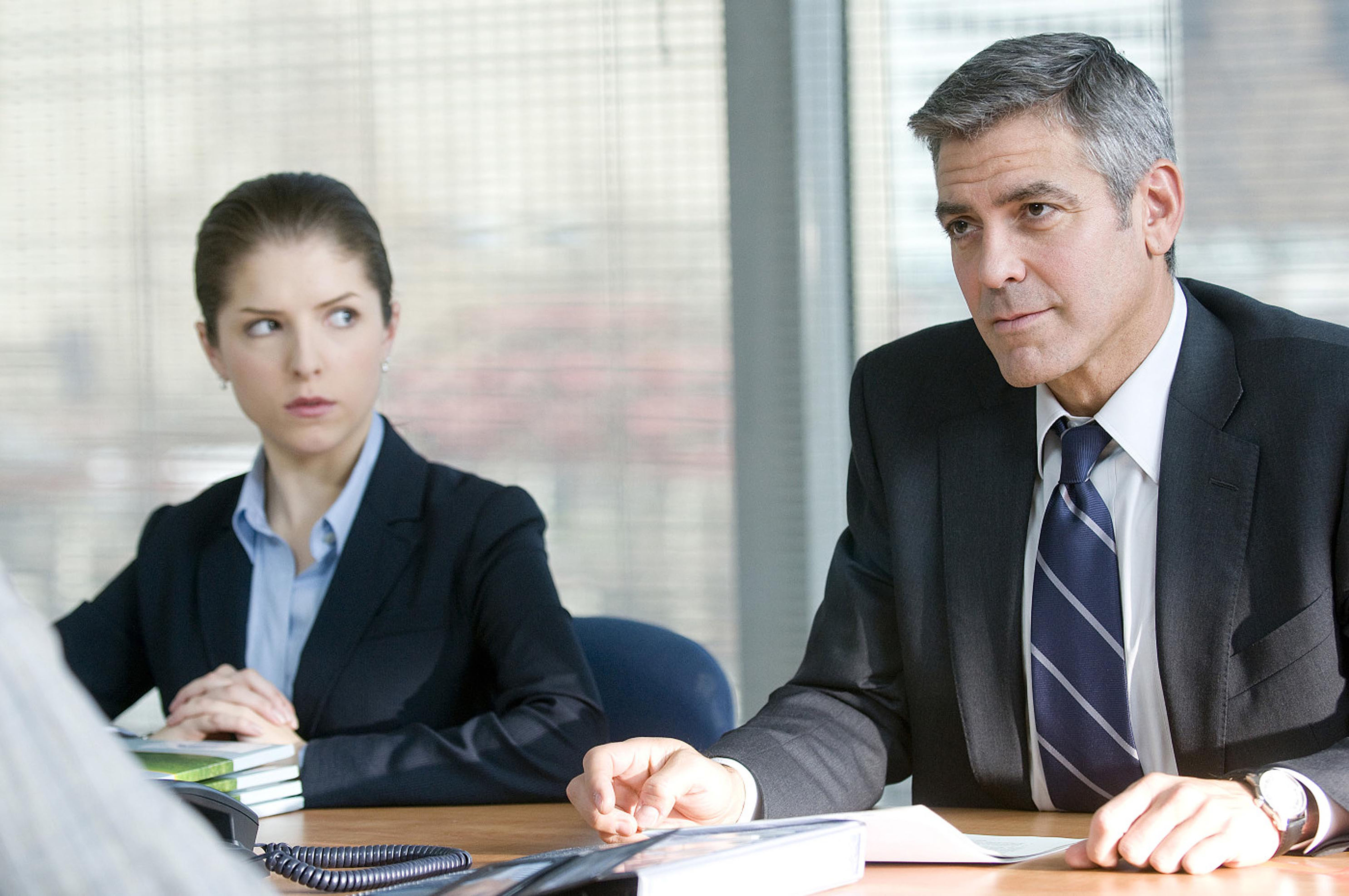 George Clooney and Anna Kendrick