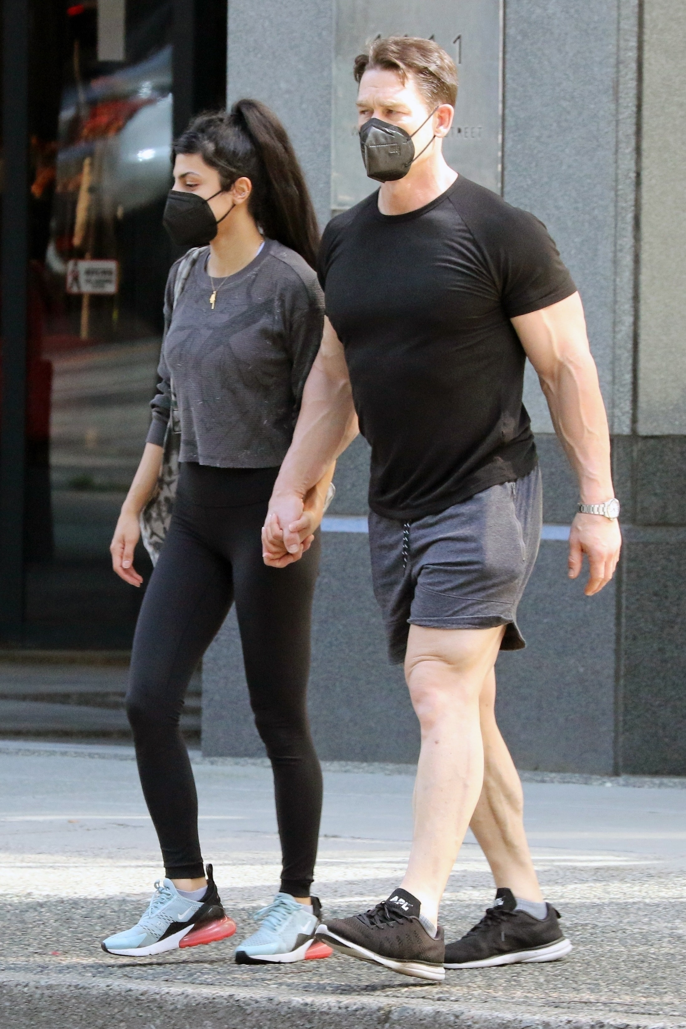 John Cena and his wife Shay Shariatzadeh